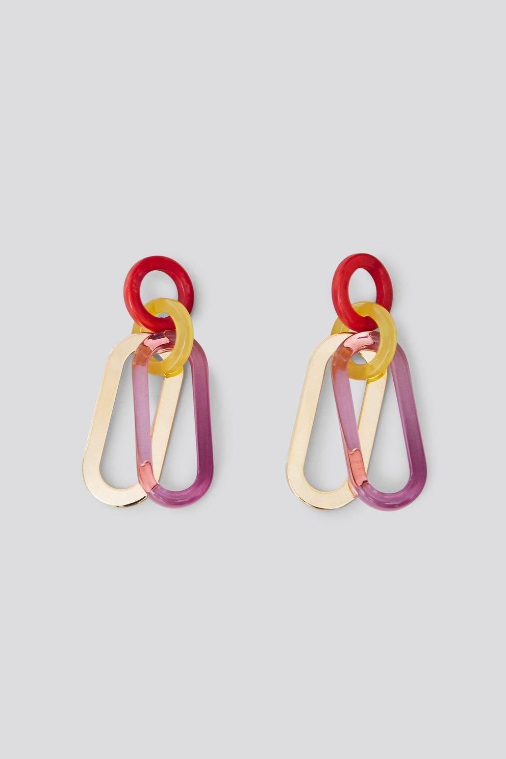 Sour earring Clear Purple multi