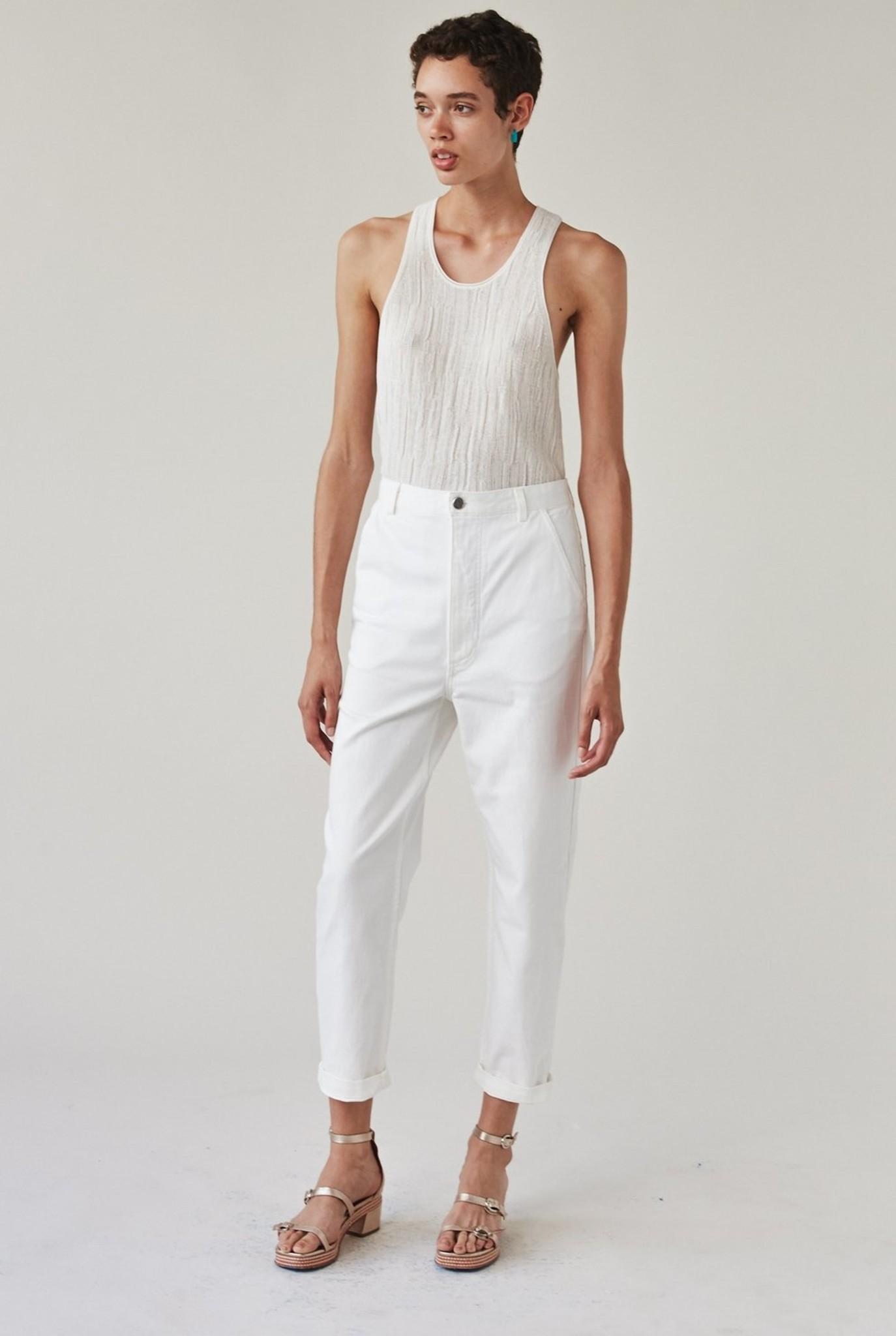 Pseudo trouser White