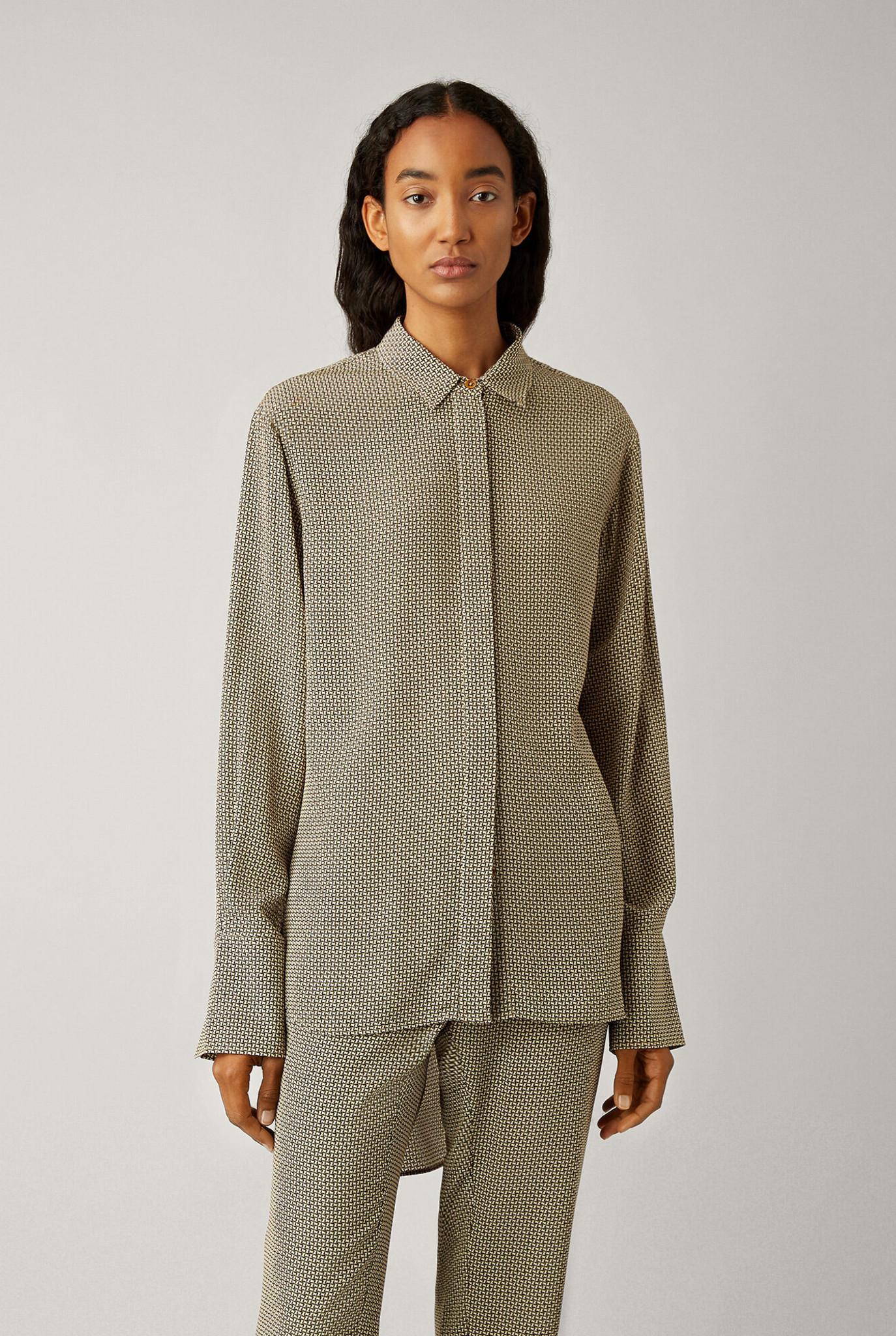Oldfield blouse Cravate print