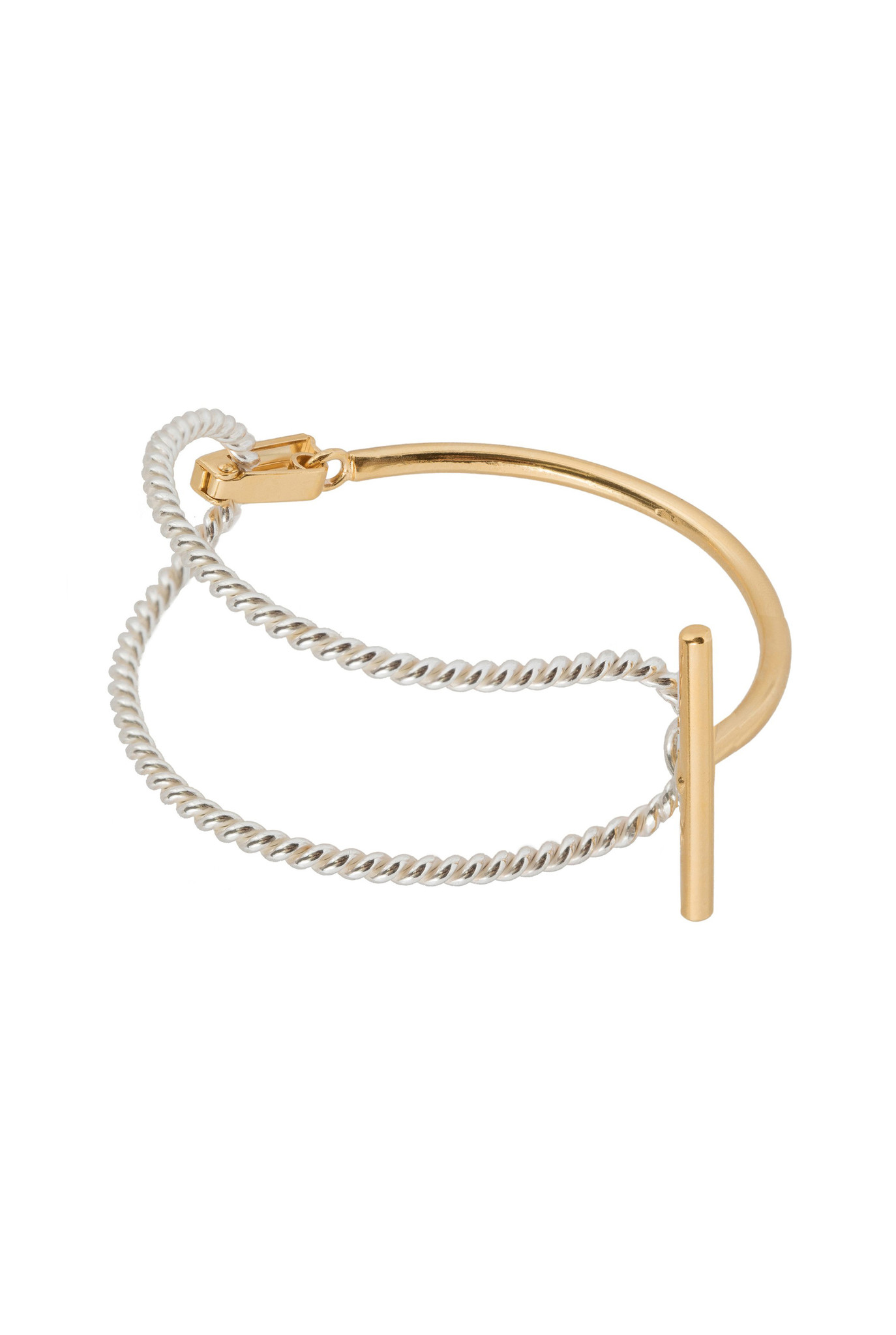 Statement bracelet with t-clasp