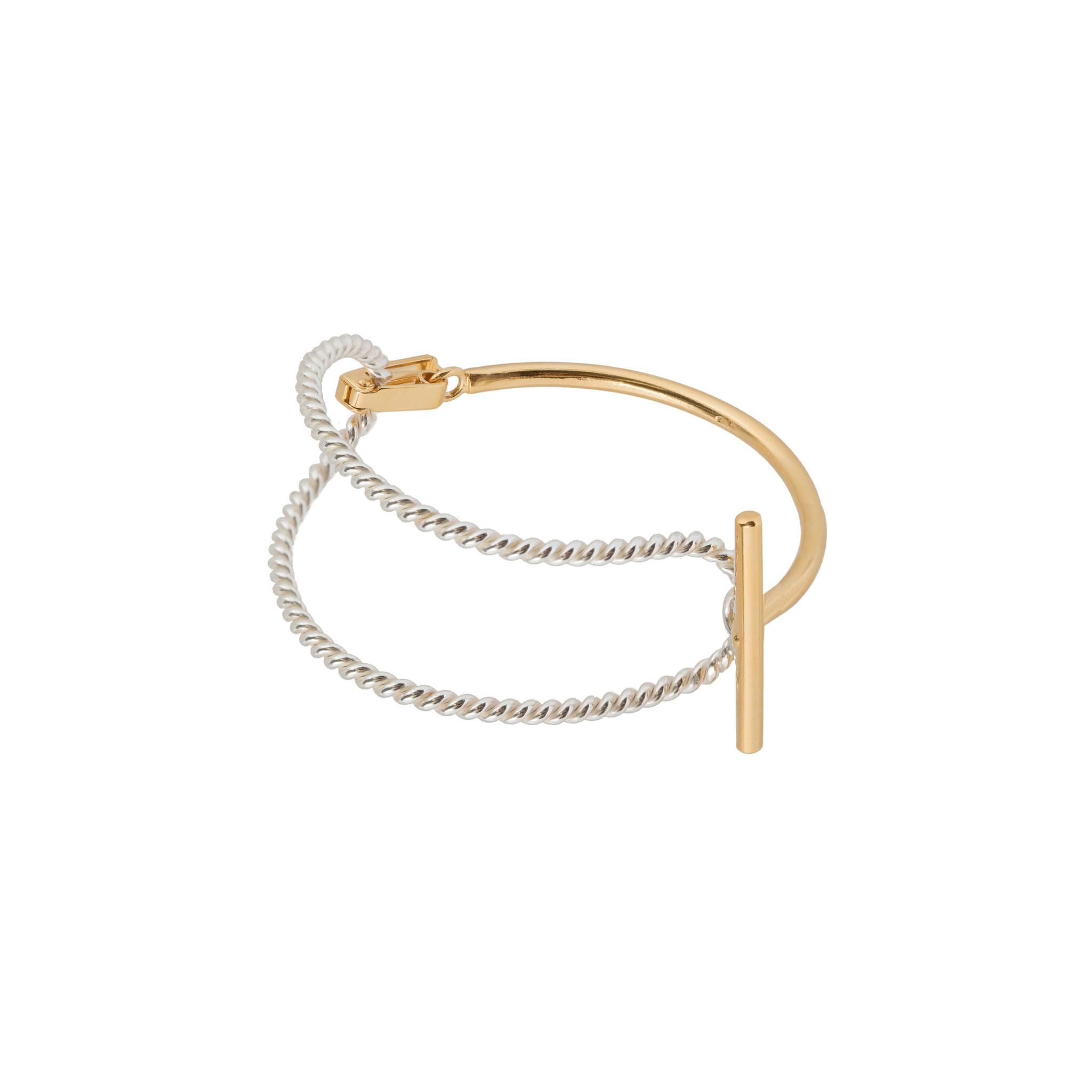 Statement bracelet with t-clasp