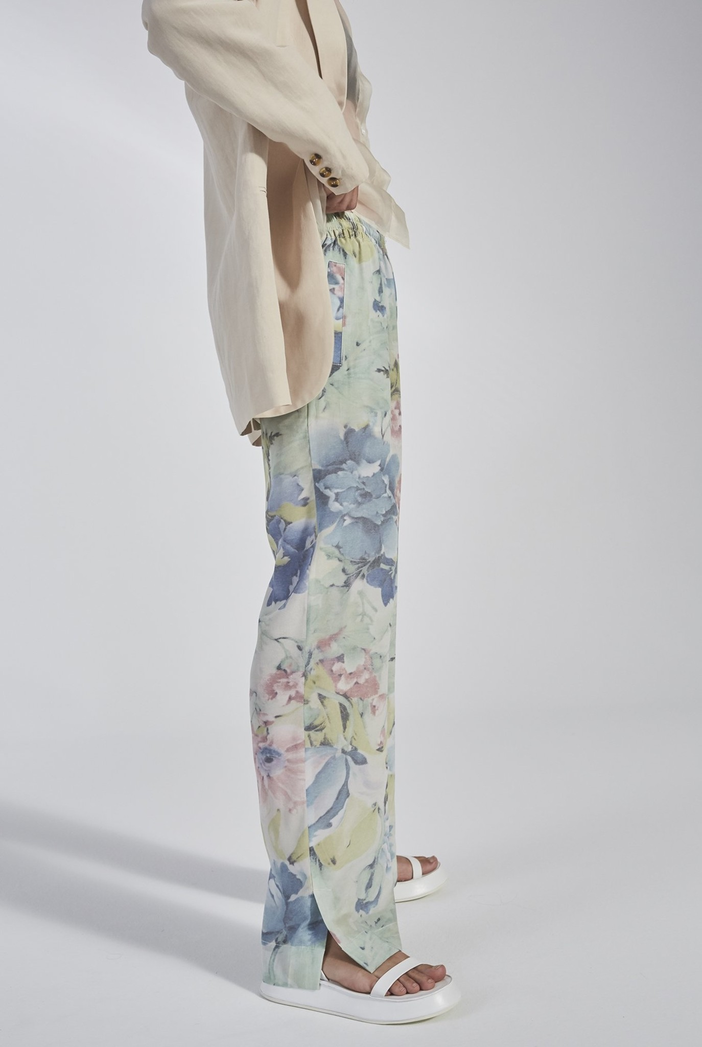 Eli Slit trouser Curtain Flower