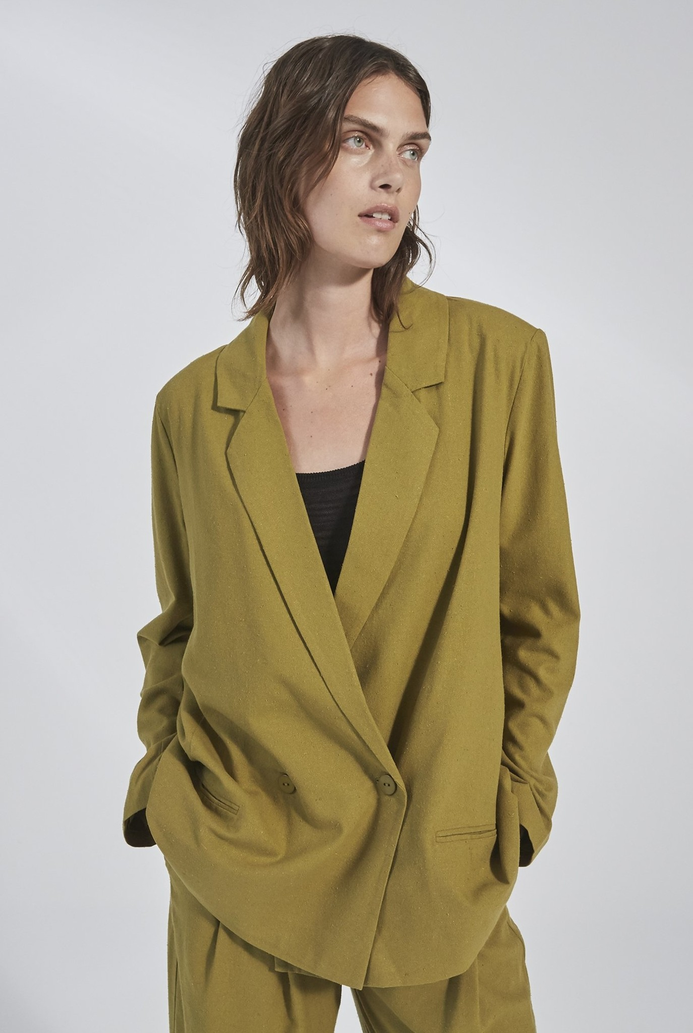 Harper Blazer Pickle Green