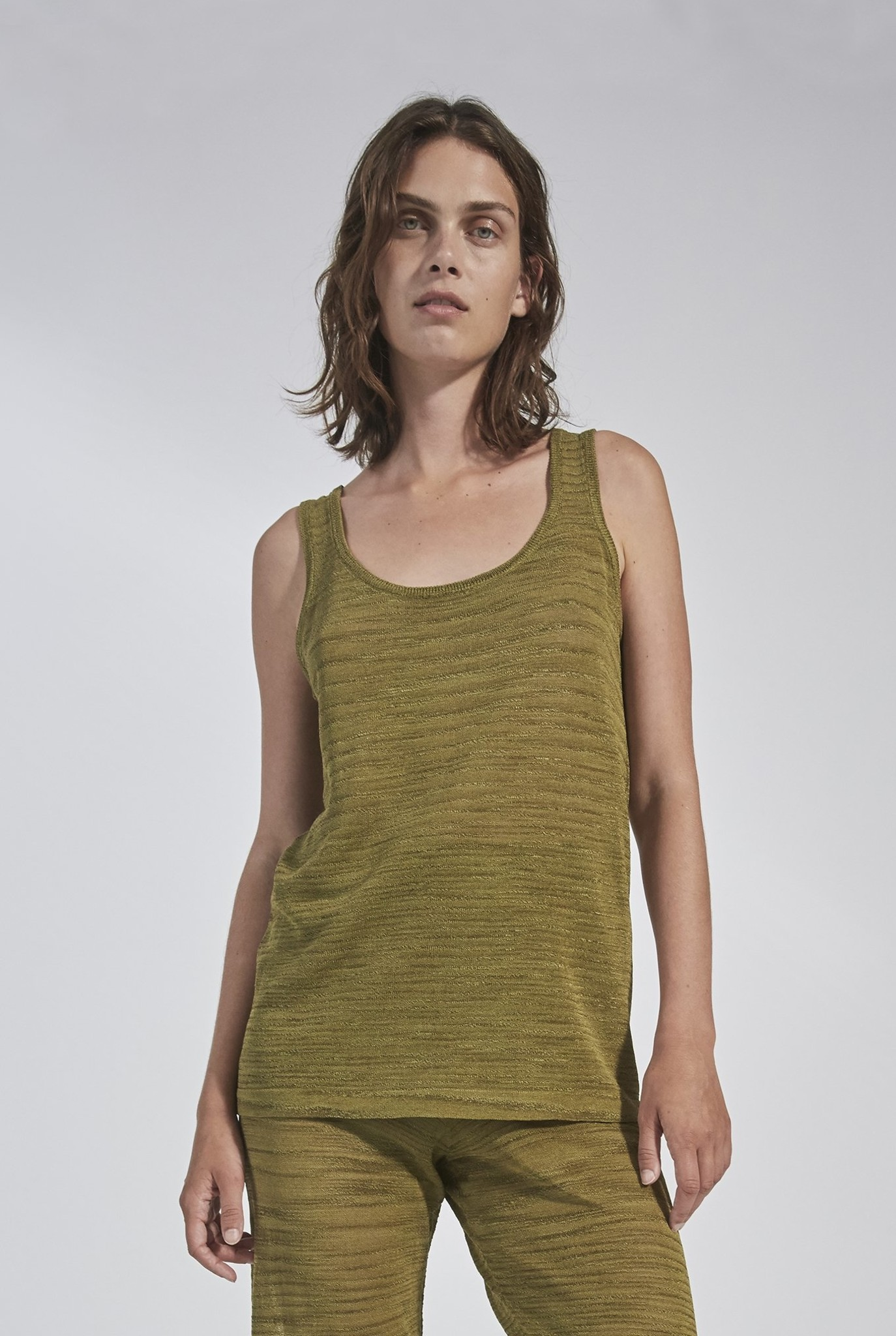 Scato knit Tank Top Green