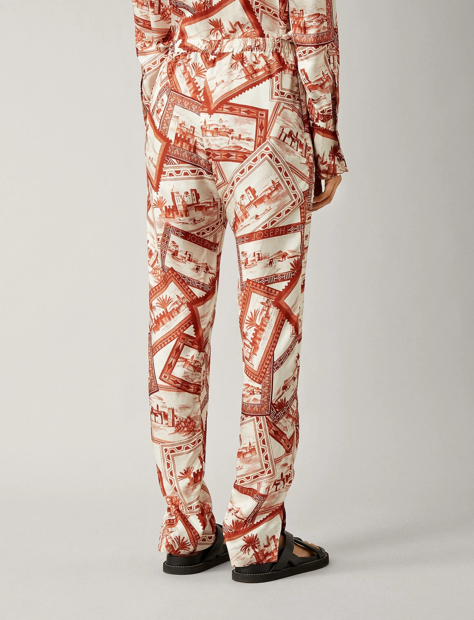 Hurley trousers big stamp print red