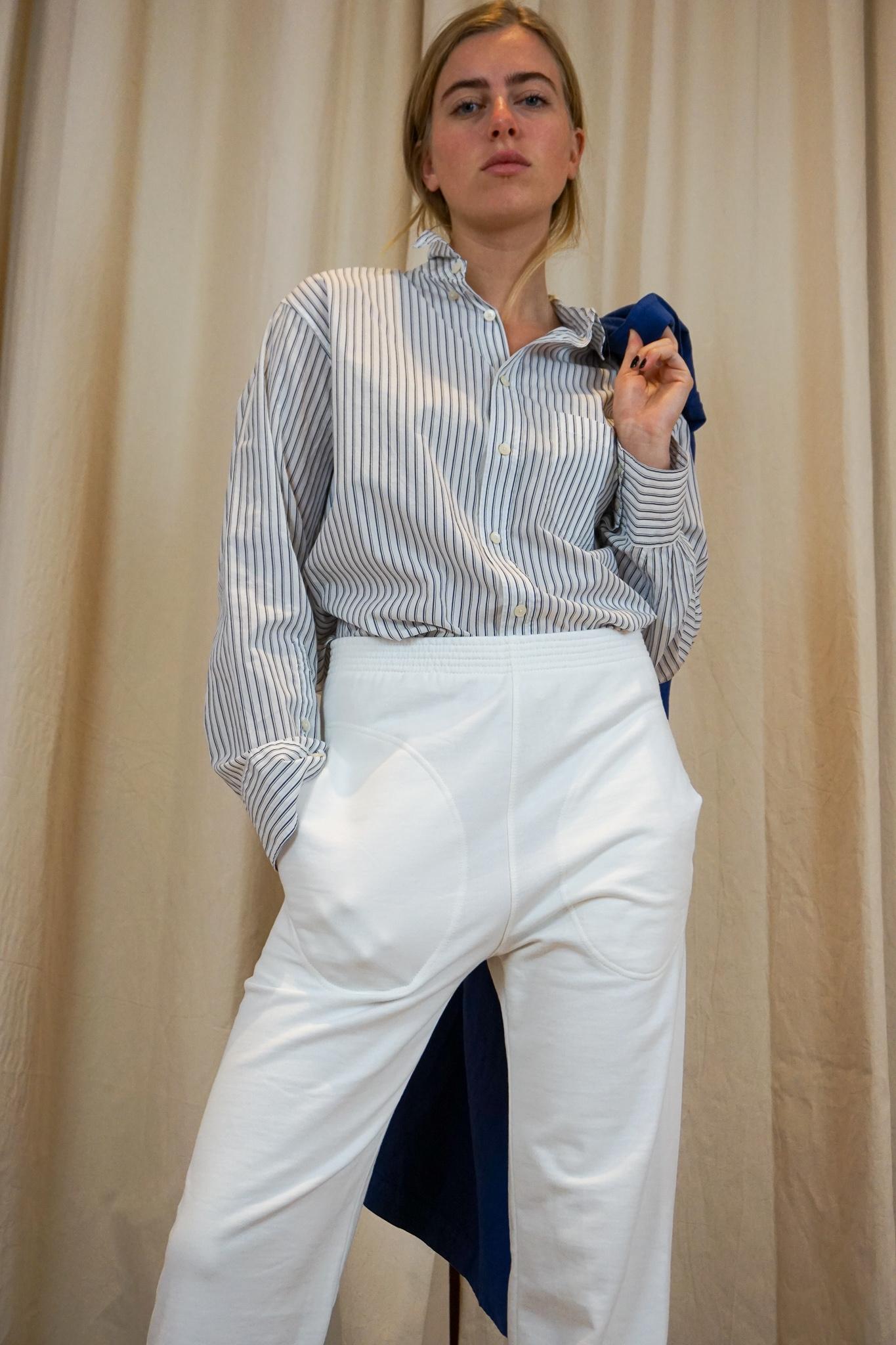 Relax trouser White bio sweat