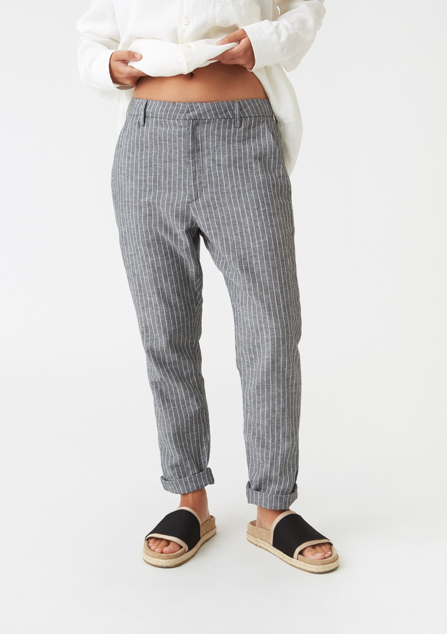 News trouser Black stripe