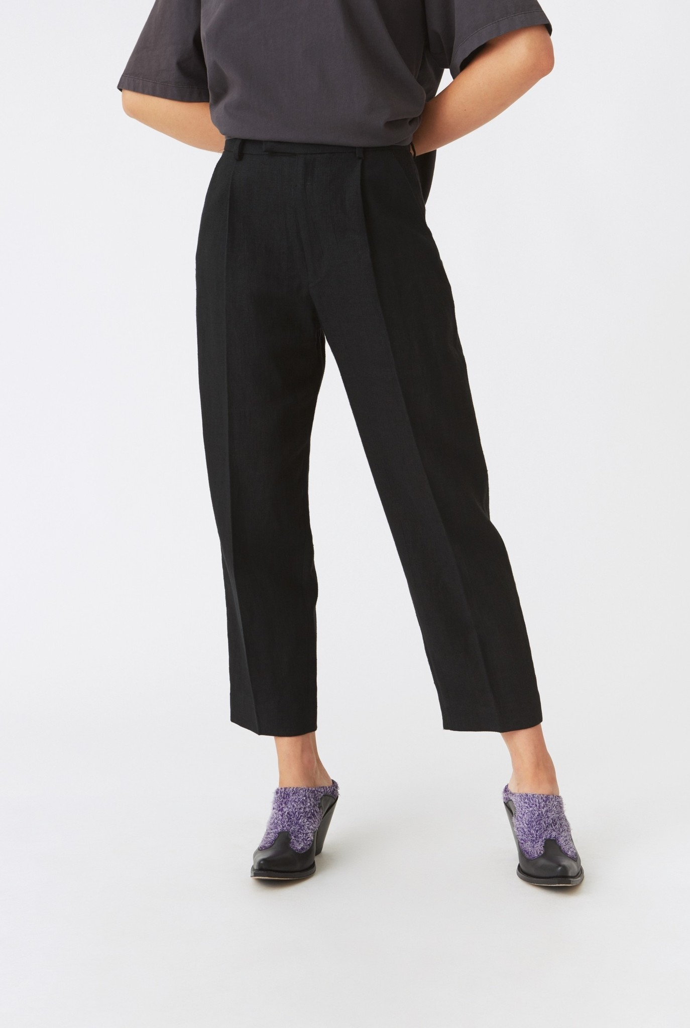 Alta trousers Black linen