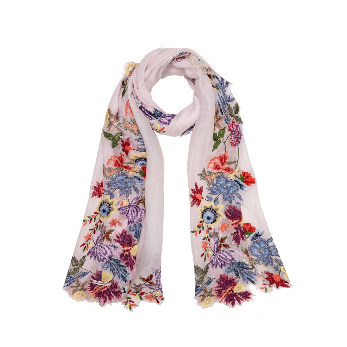 Tiara scarf light pink flowers