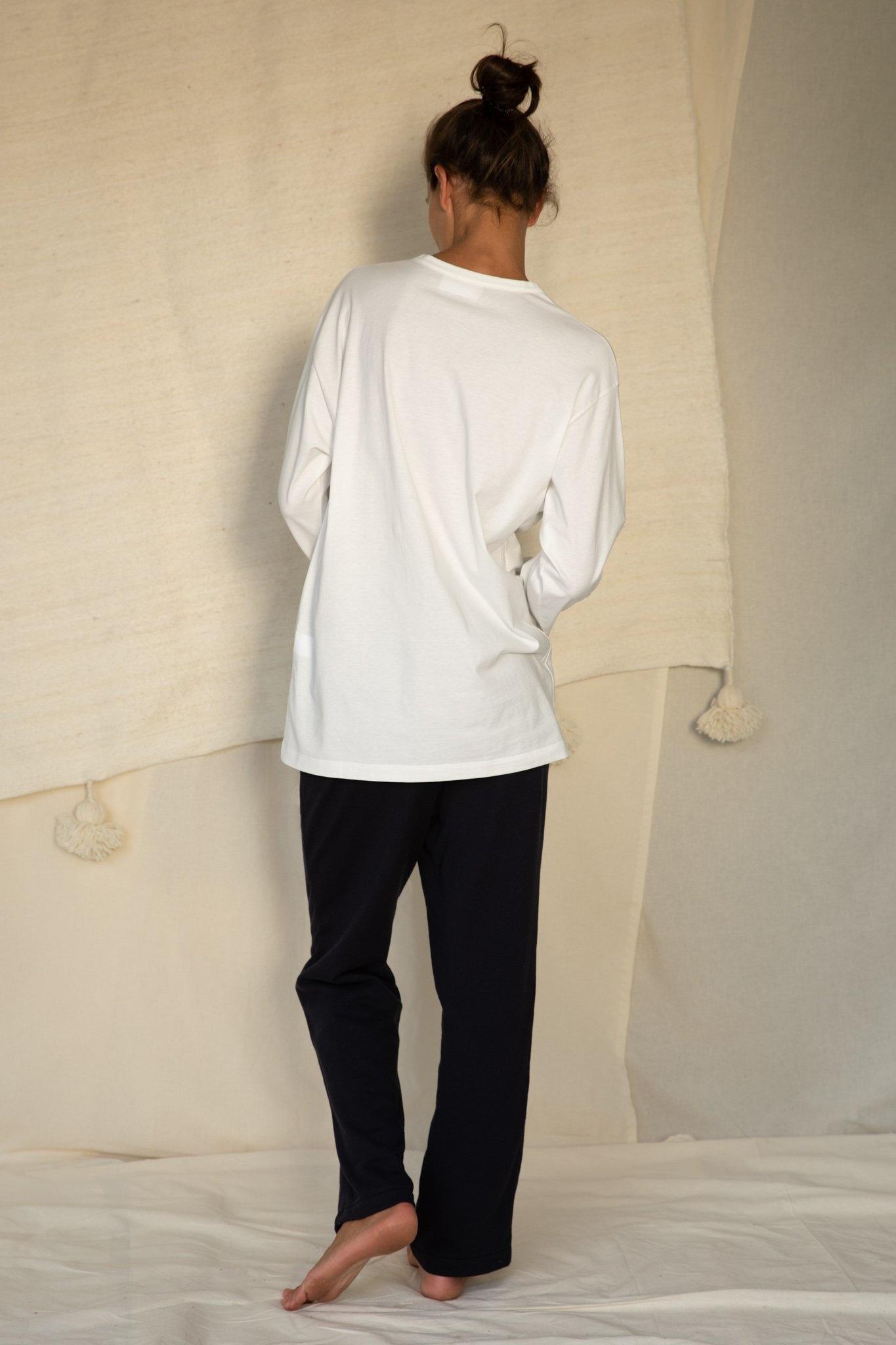 Unisex t-shirt L/S white