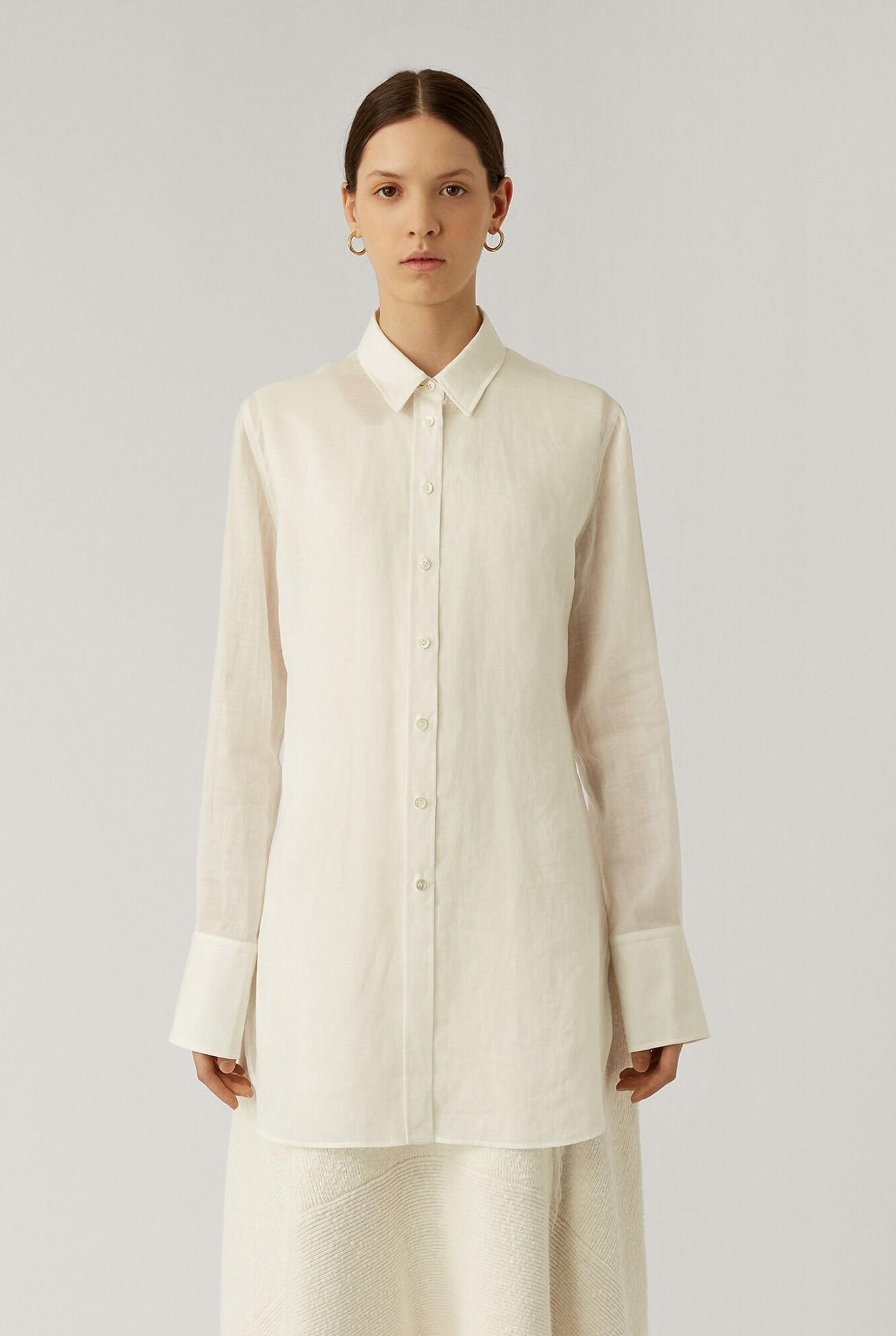 Bora-Ramie blouse Ivory