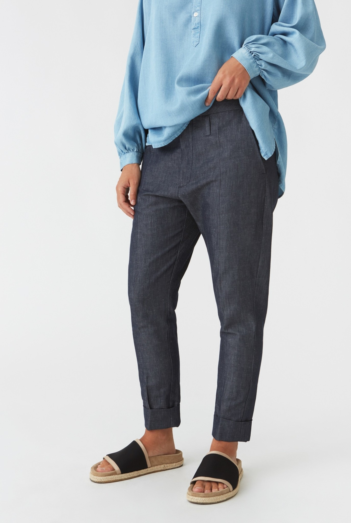 Law trousers indigo
