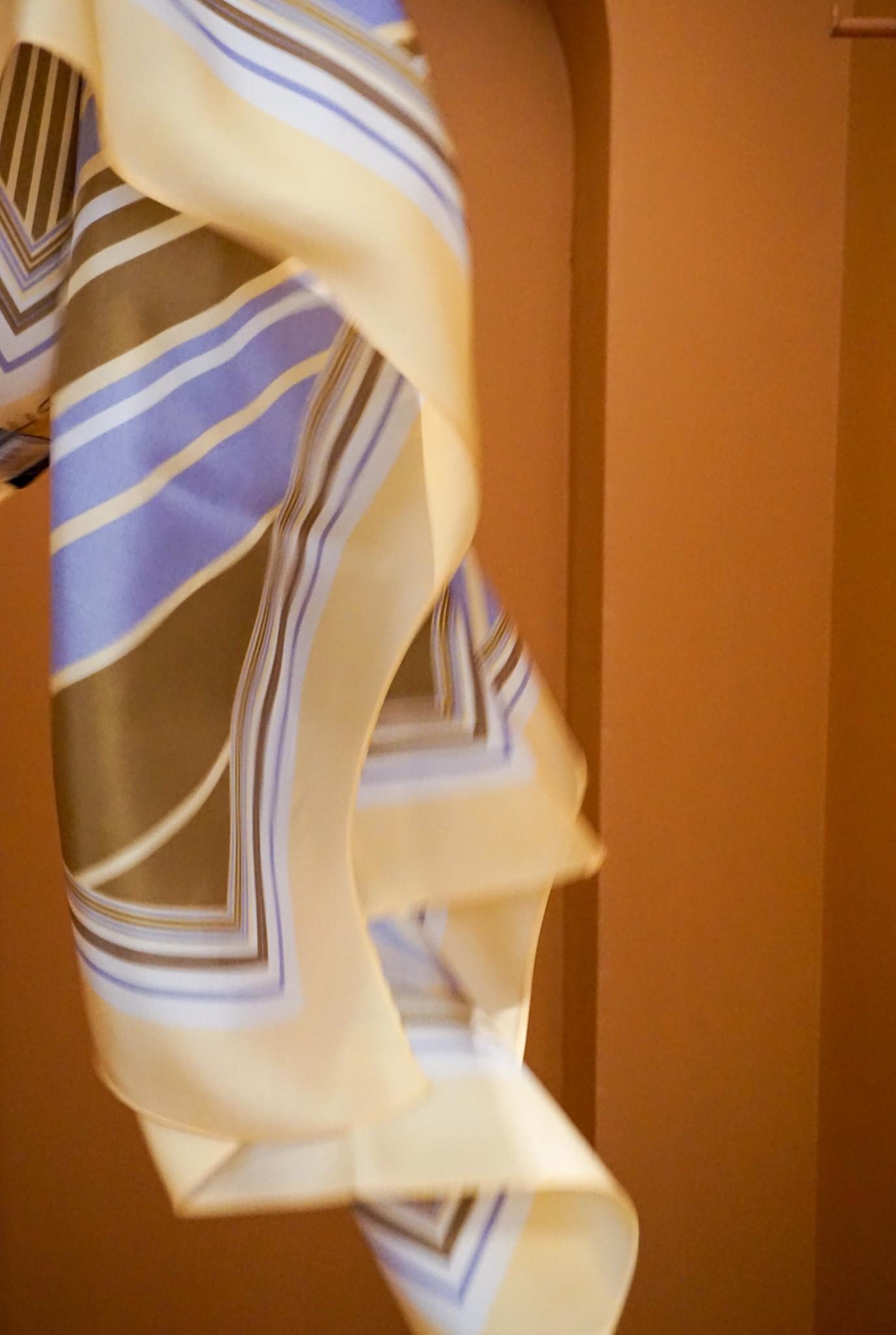 Silk scarf Banana