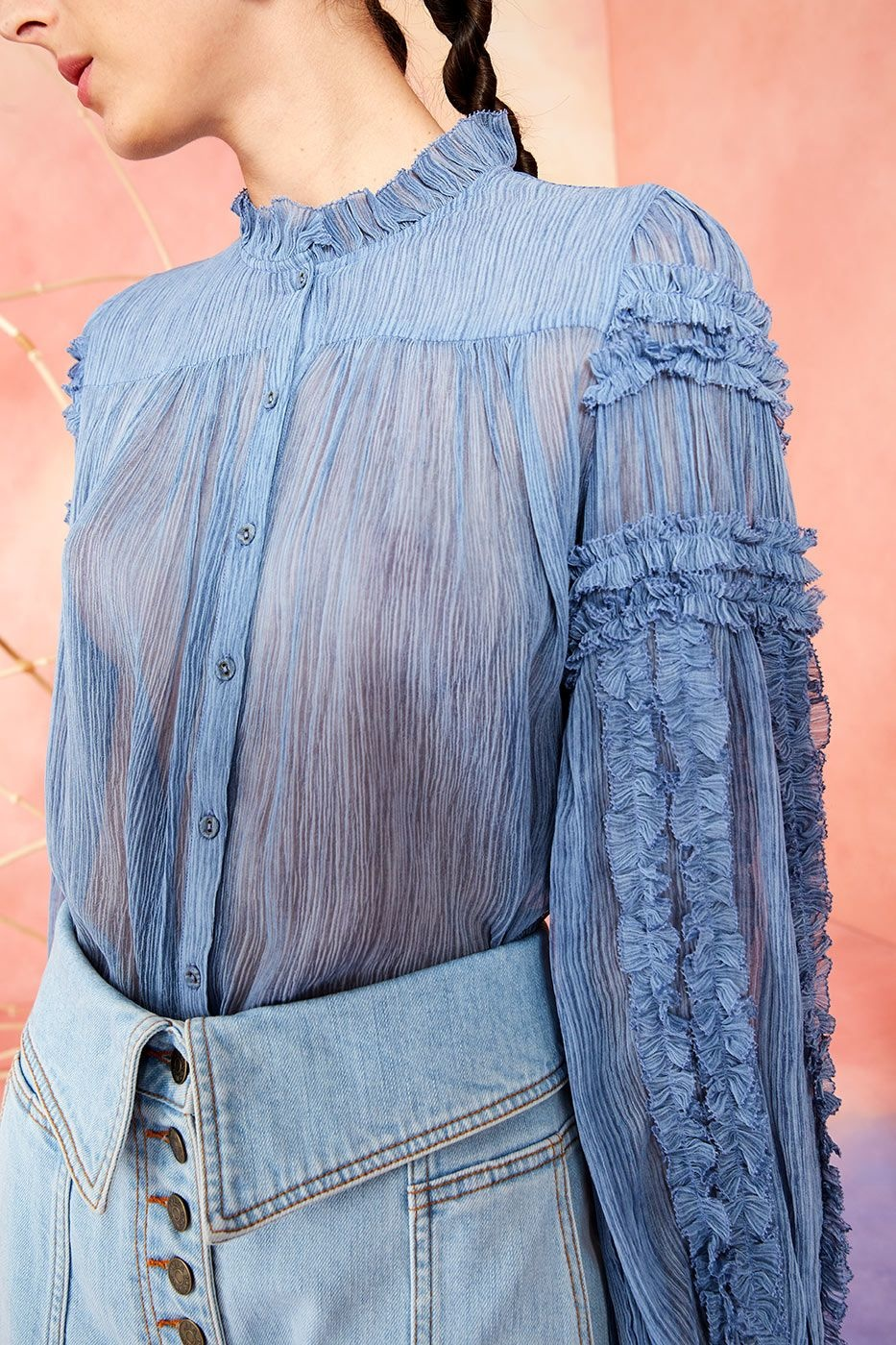 Mari blouse Slate