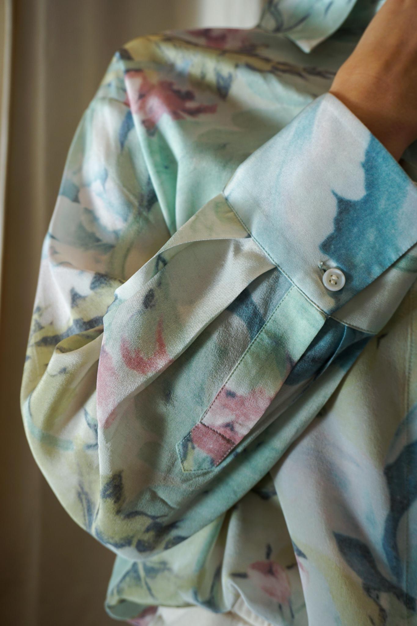 Eliza shirt Curtain Flower