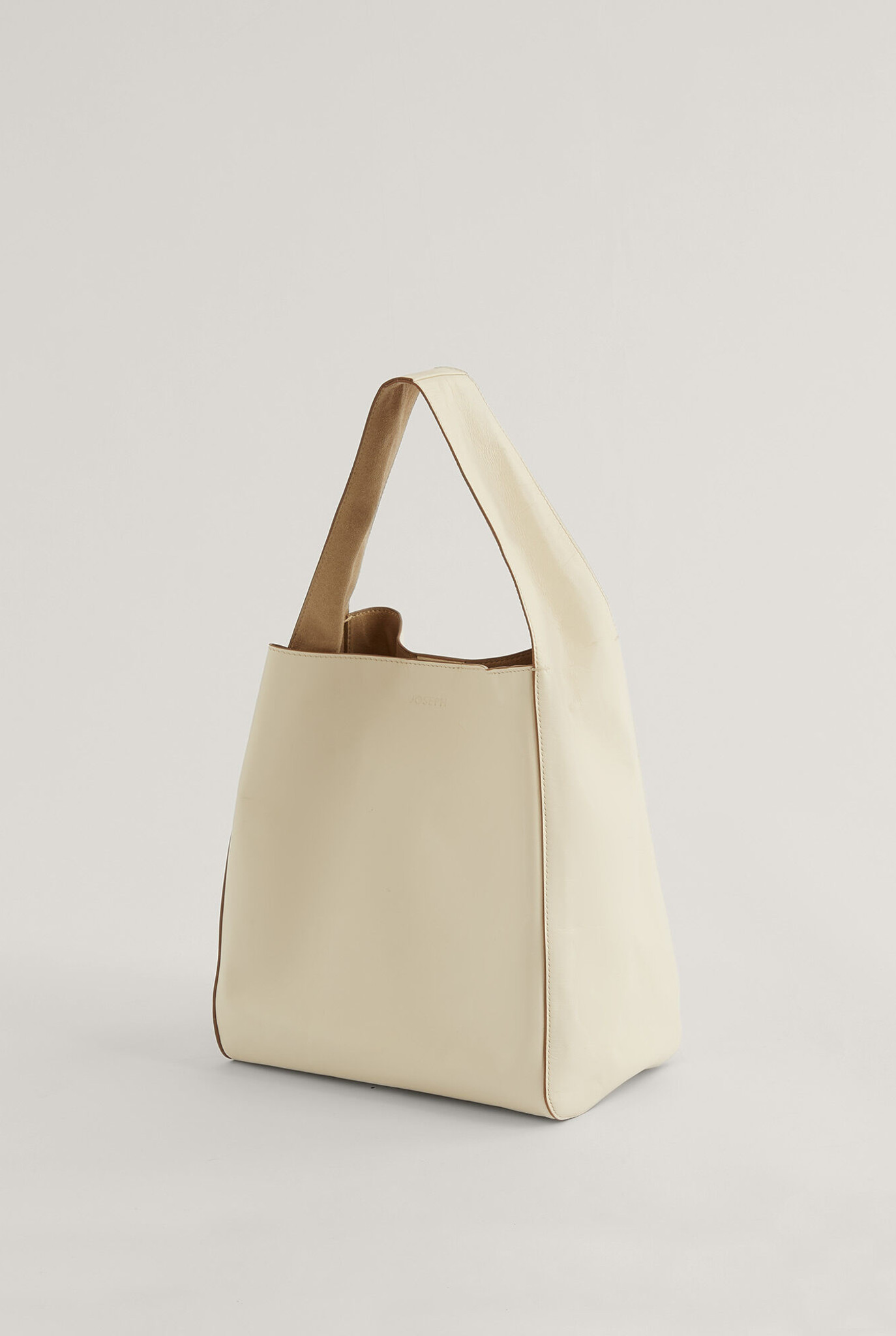 Slouch S leather bag off white