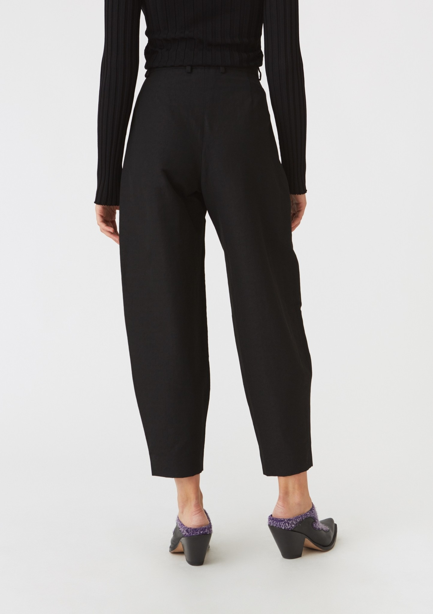 Peak trouser Black Slub
