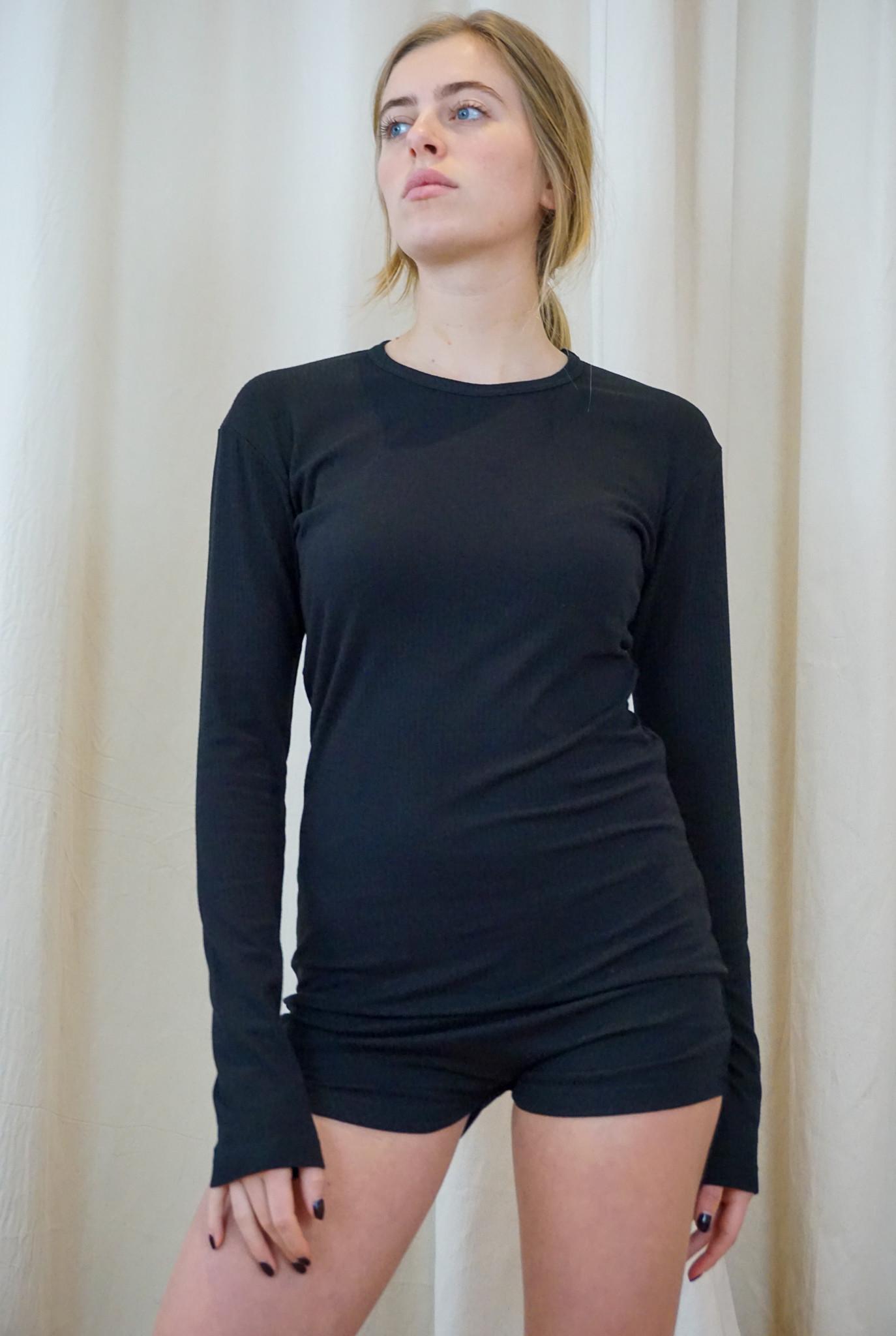Playsuit black rib