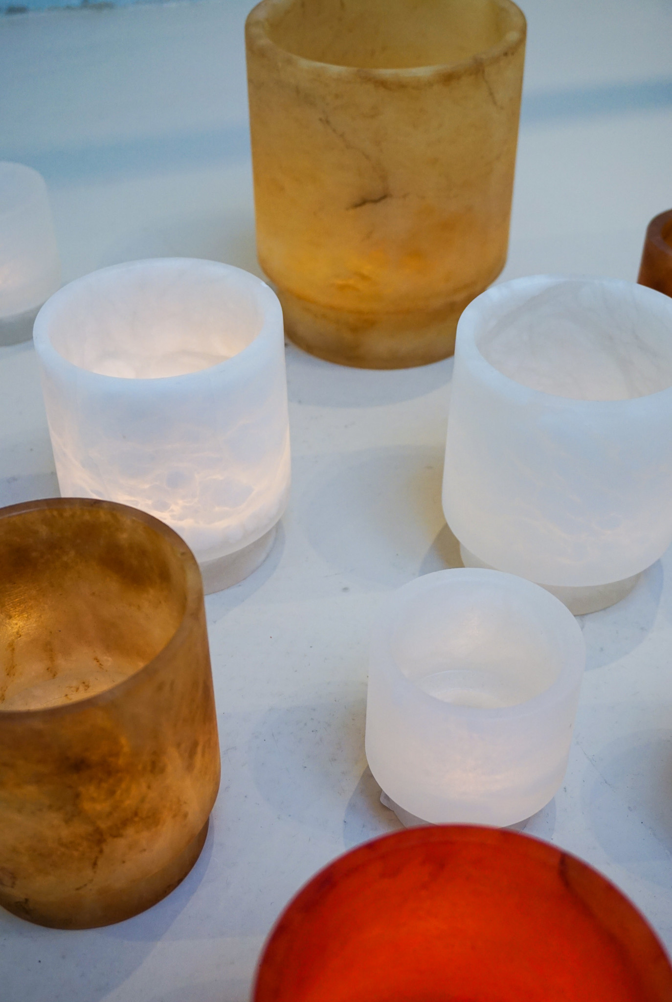 Alabaster TLight holder M amber