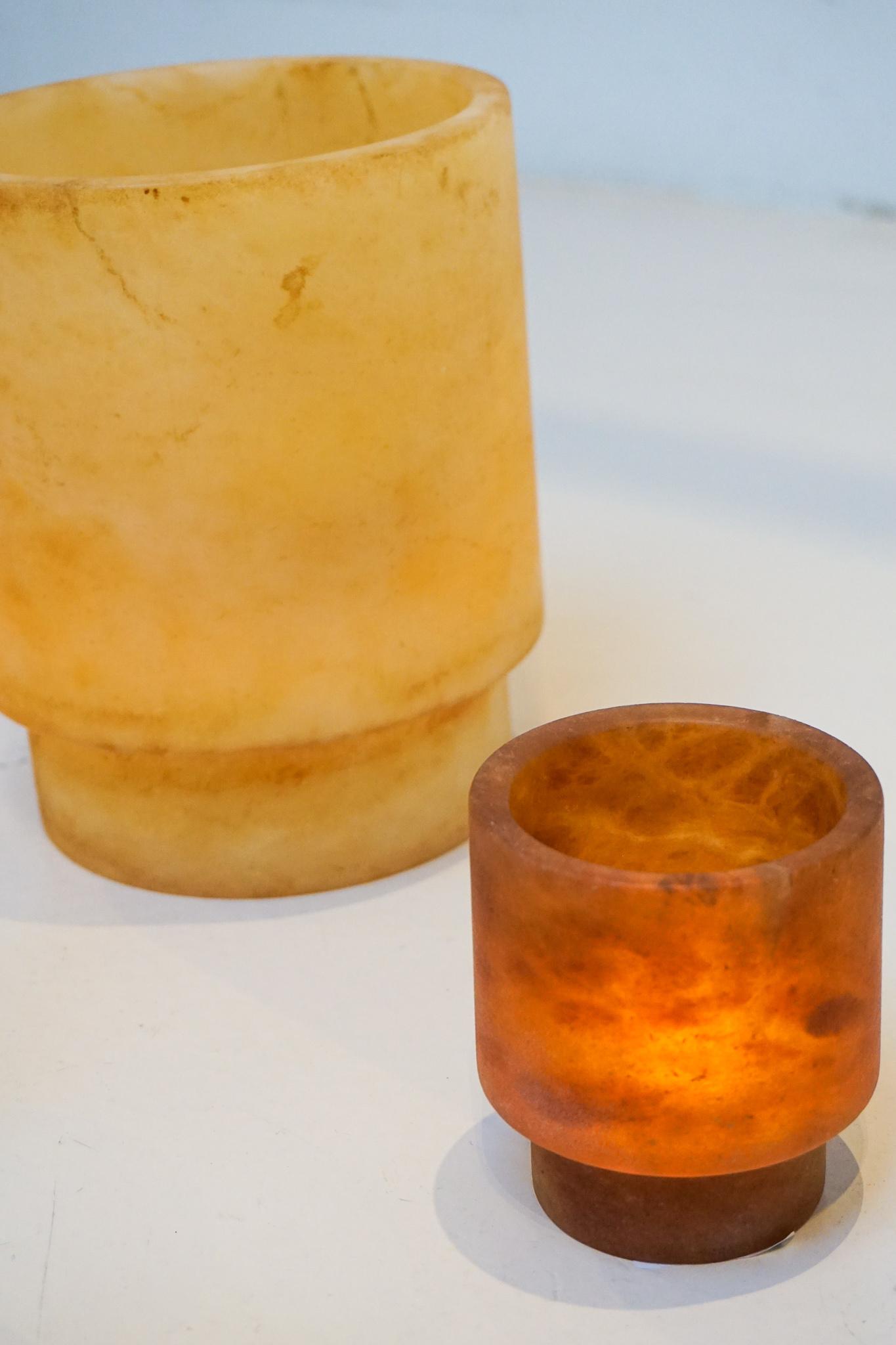 Alabaster TLight holder M amber