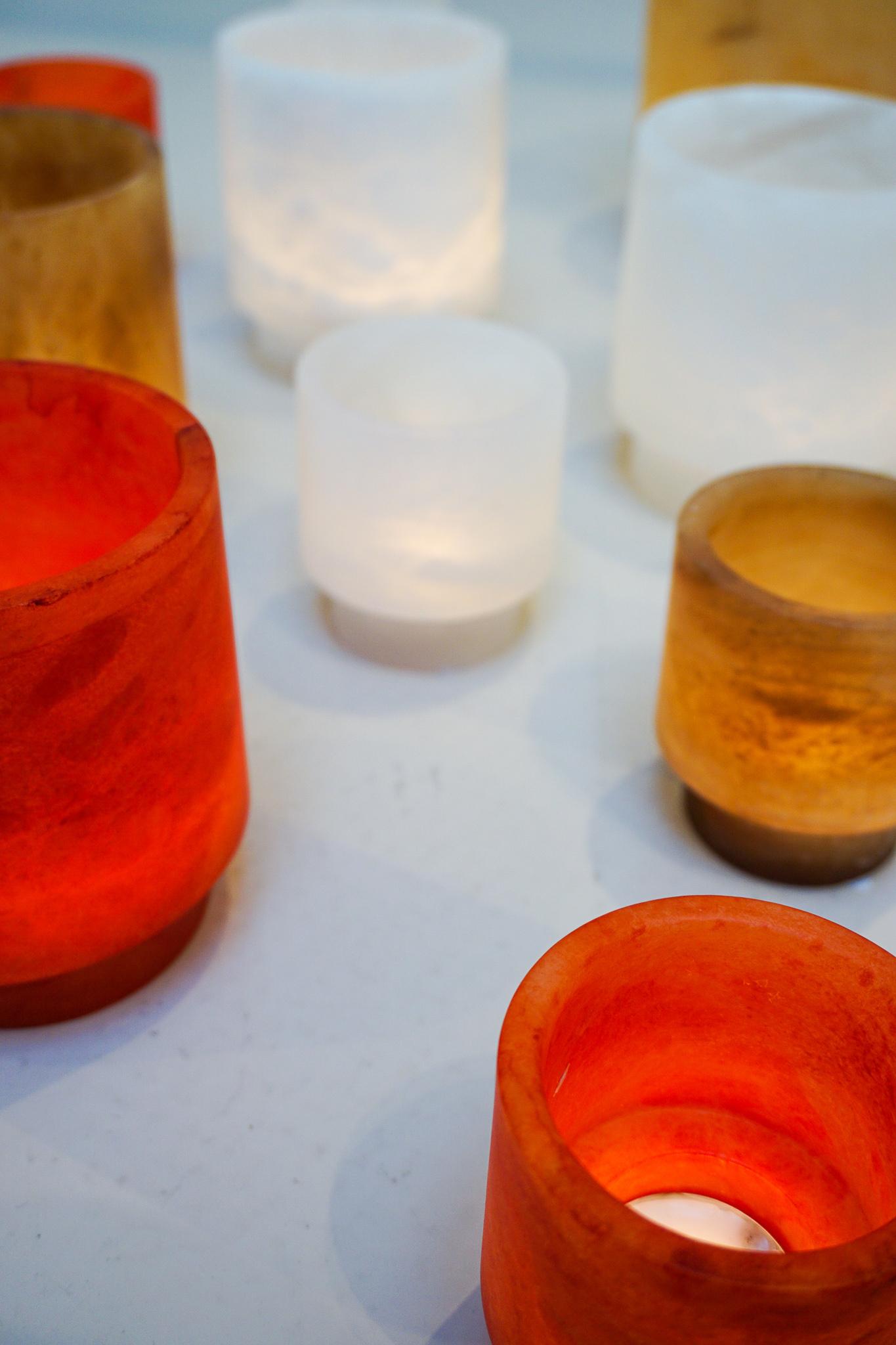 Alabaster TLight holder M red