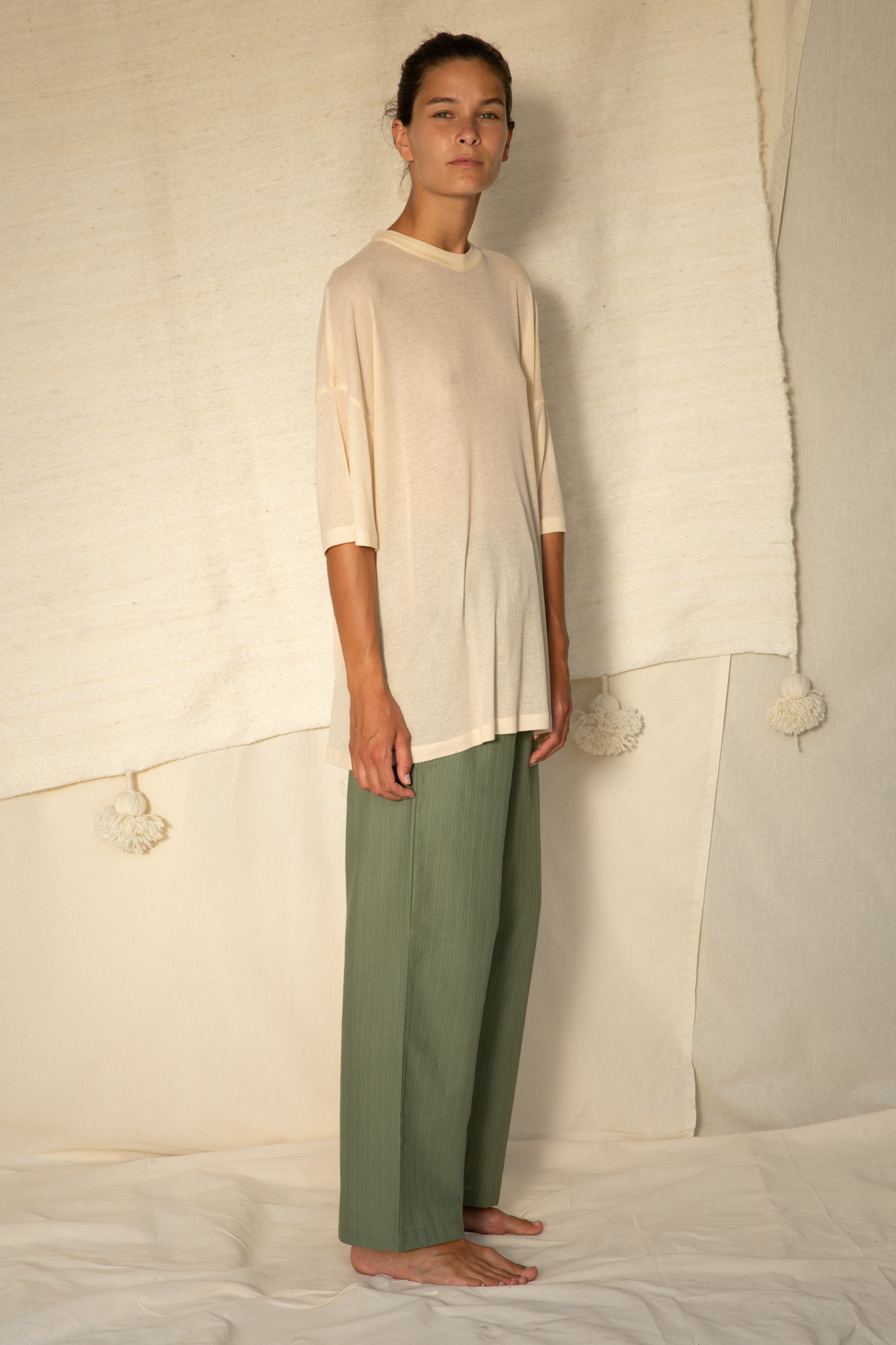 Relaxed t-shirt S/S Macadamia