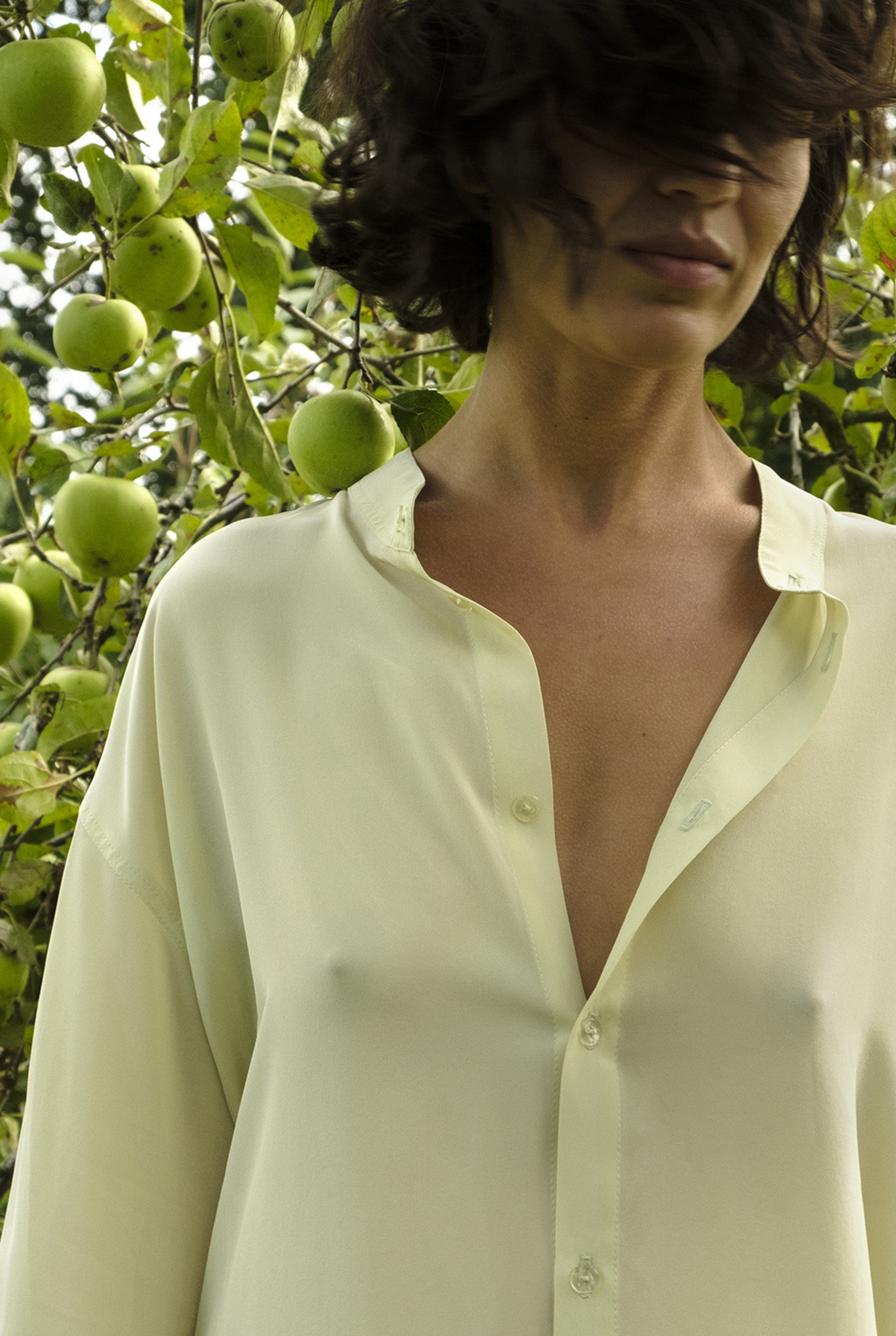 1+5 blouse Vanilla silk