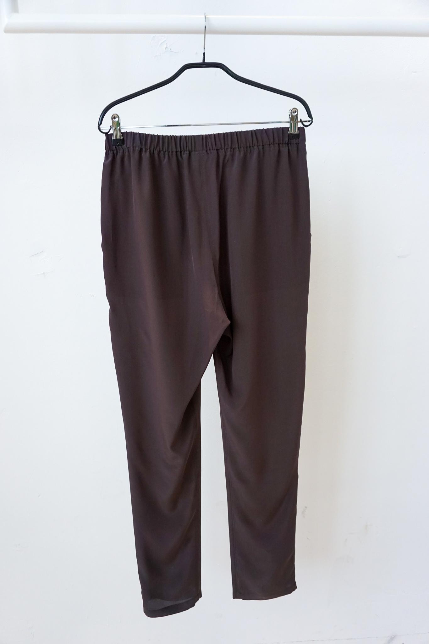 PJ trouser Chocolate silk