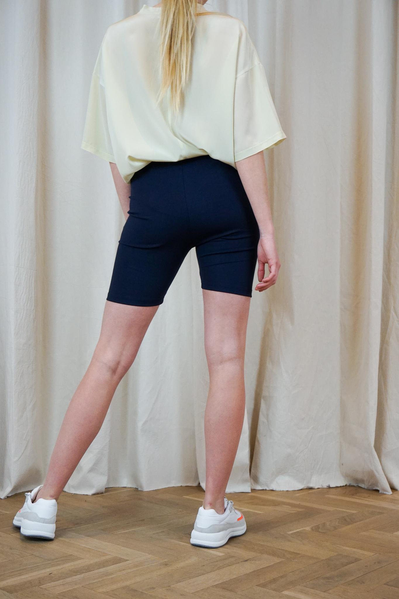 Legging short Navy Shine