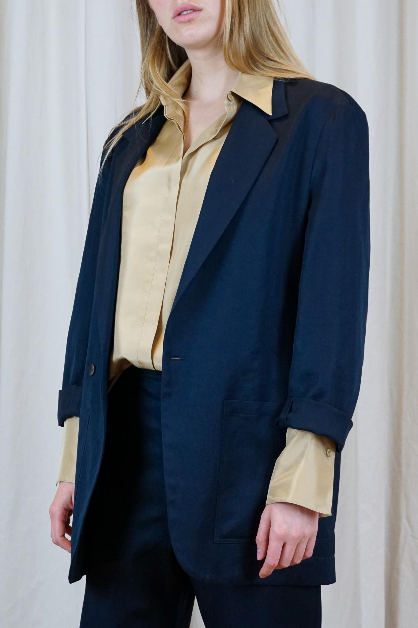 Don colbert Navy cotton linen