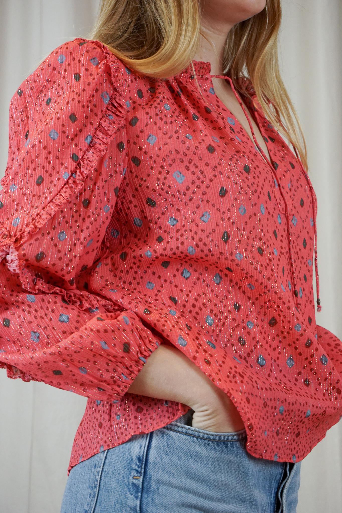 Manet blouse Hibiscus