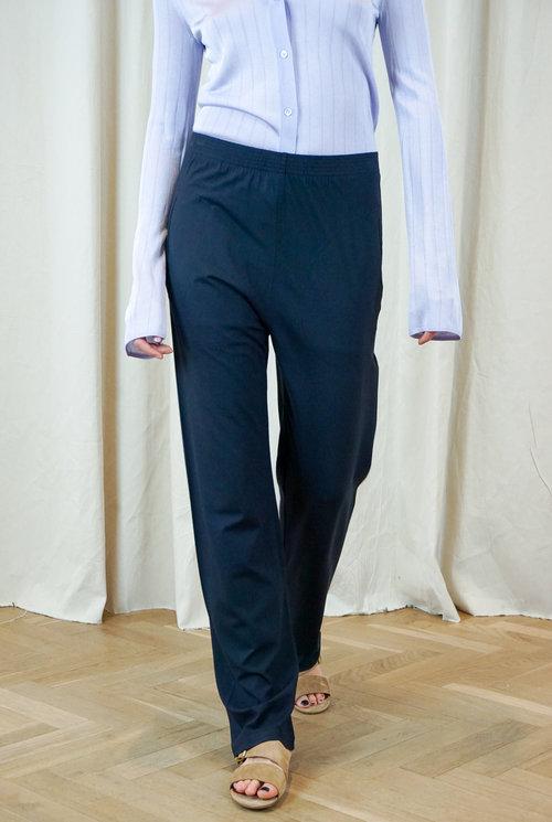 Relax trouser navy jersey