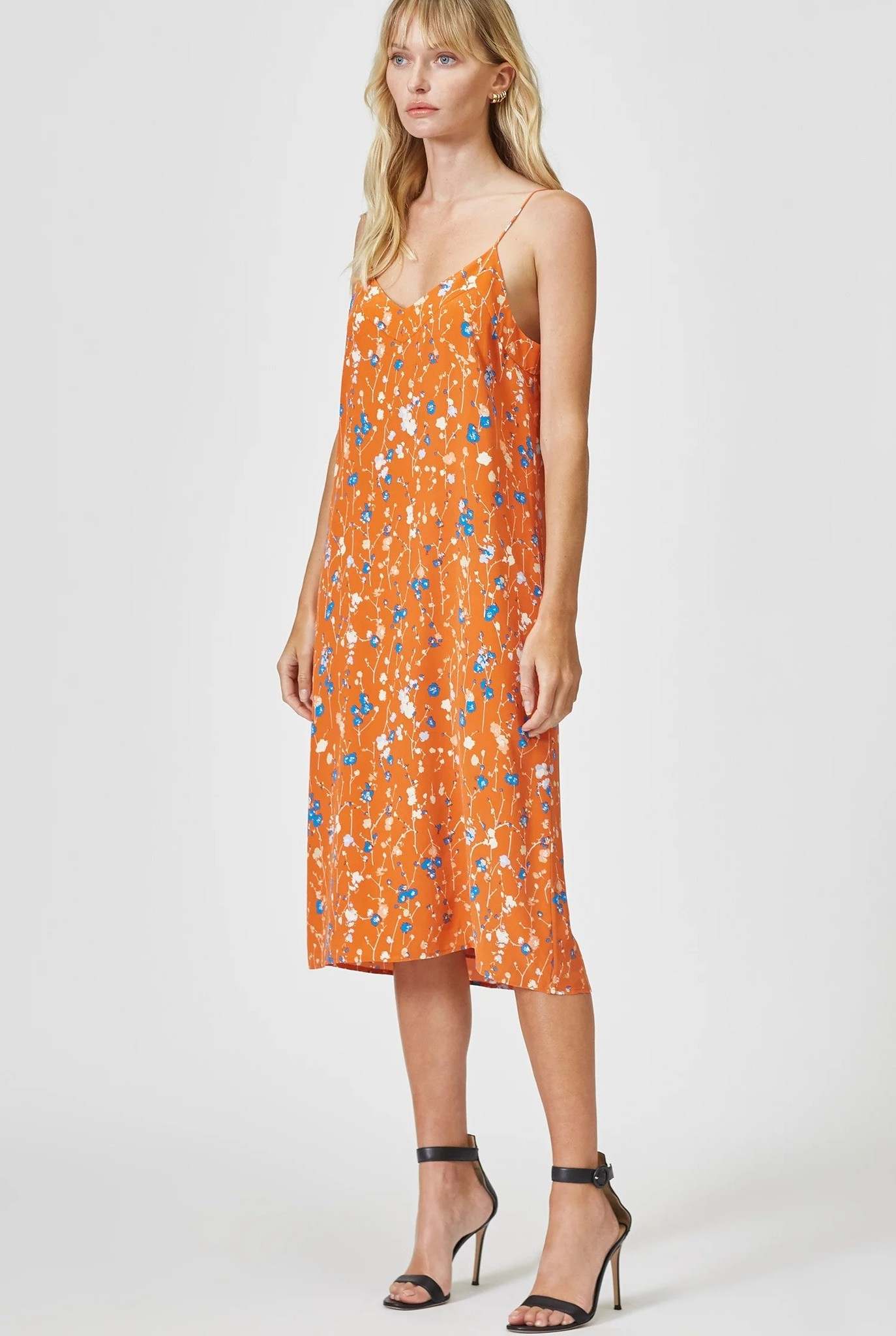 Jules Slip dress Orange Rust