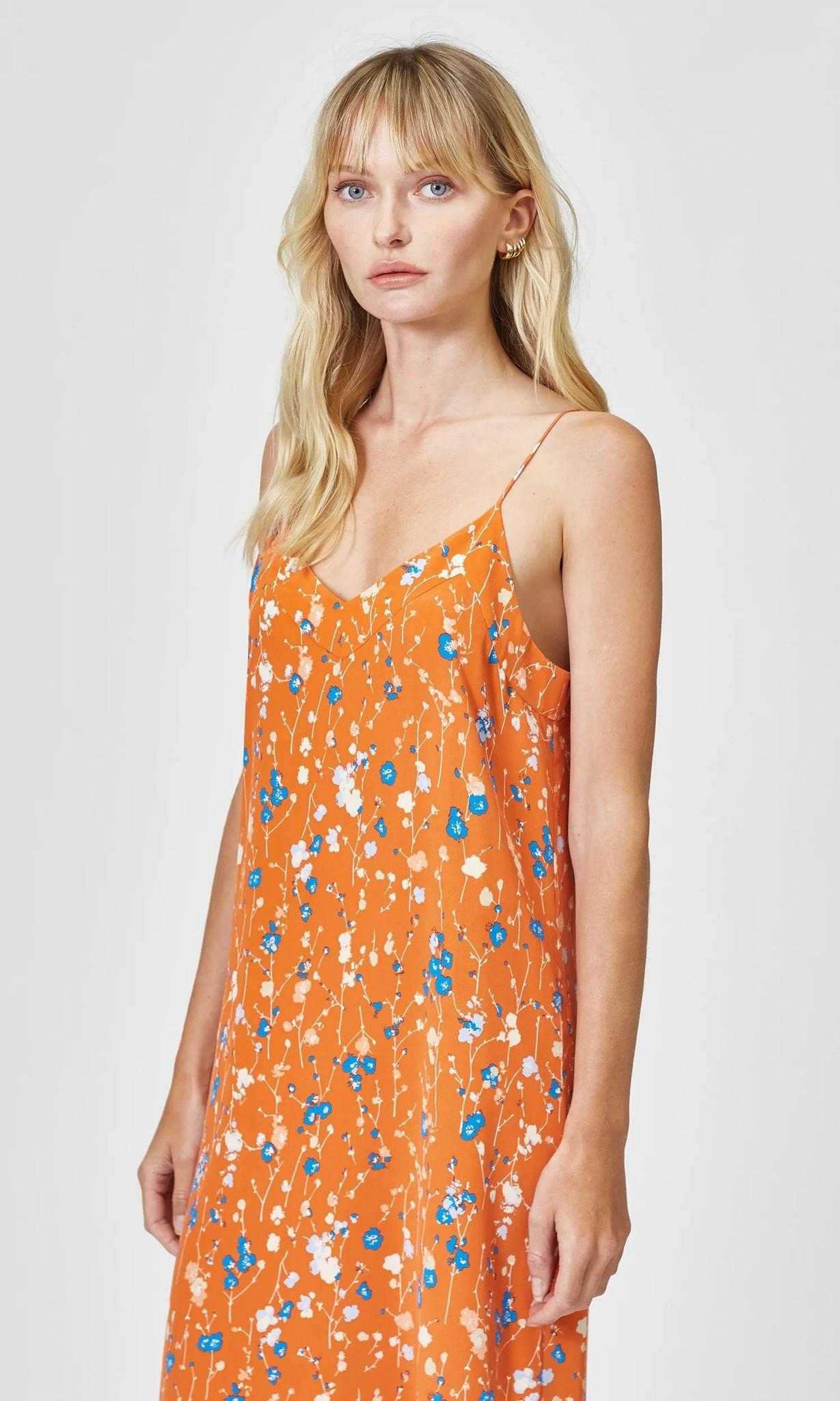 Jules Slip dress Orange Rust