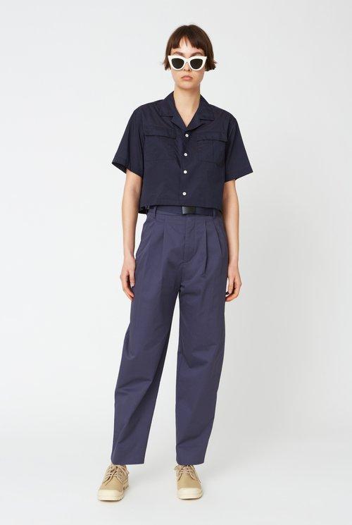 Short shirt navy