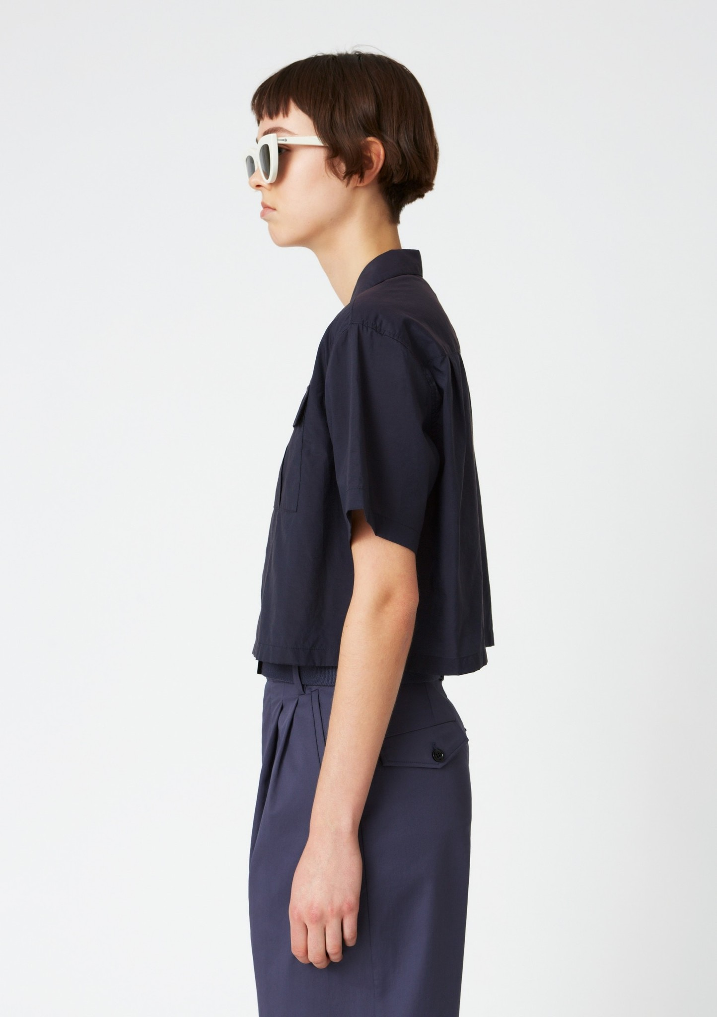 Short shirt navy