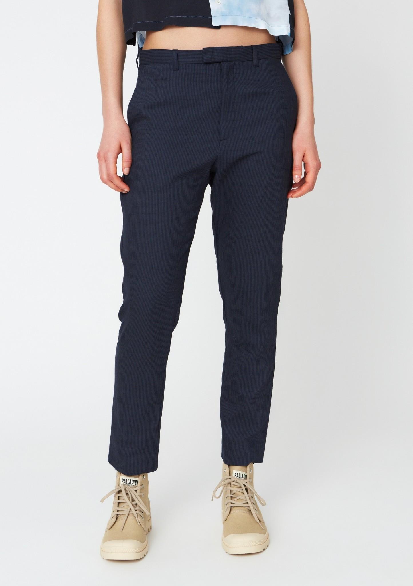 Krissy edit trouser navy stripe
