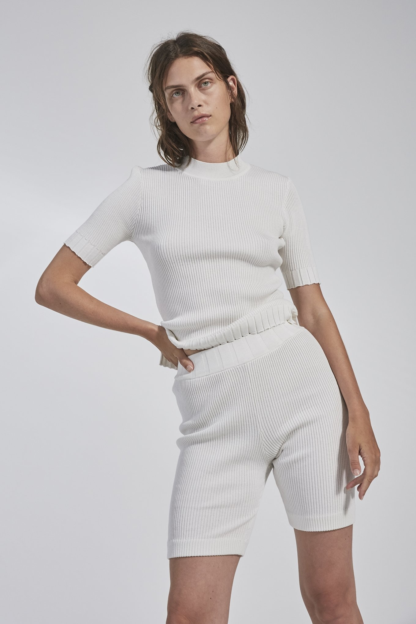Nixon knit Shorts White