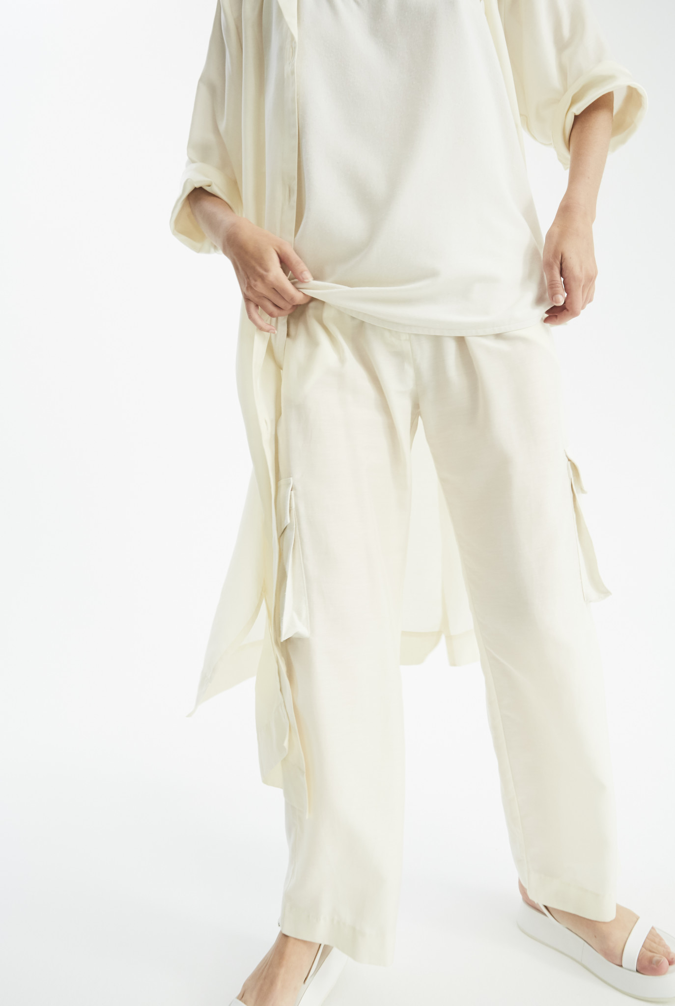Sue pants Cream/White