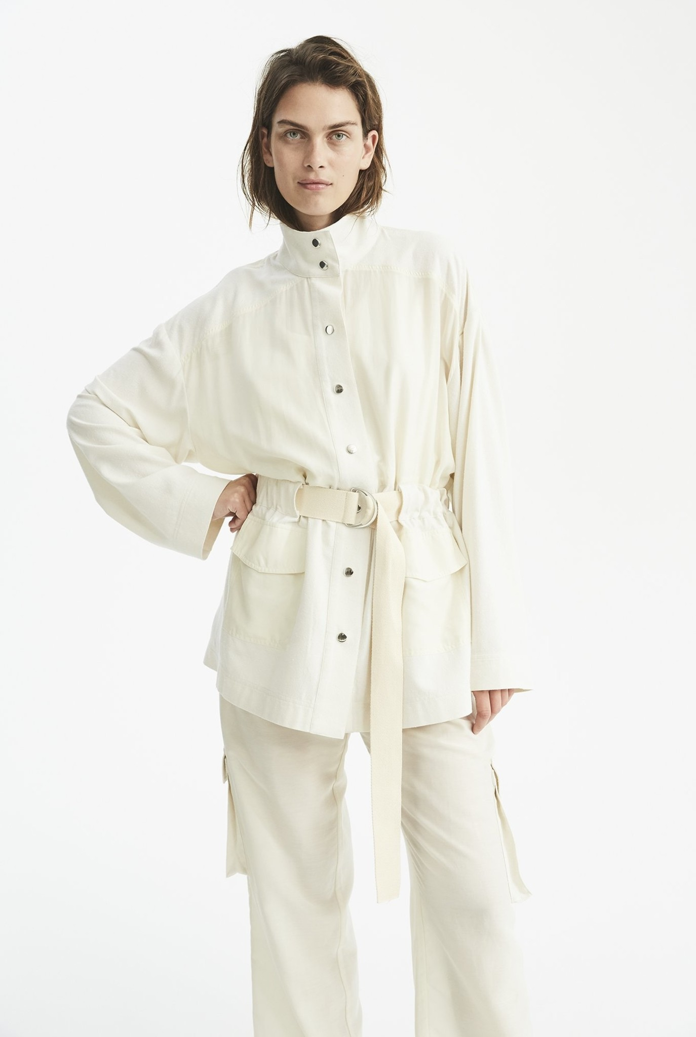 Stevie shirt Cream/White