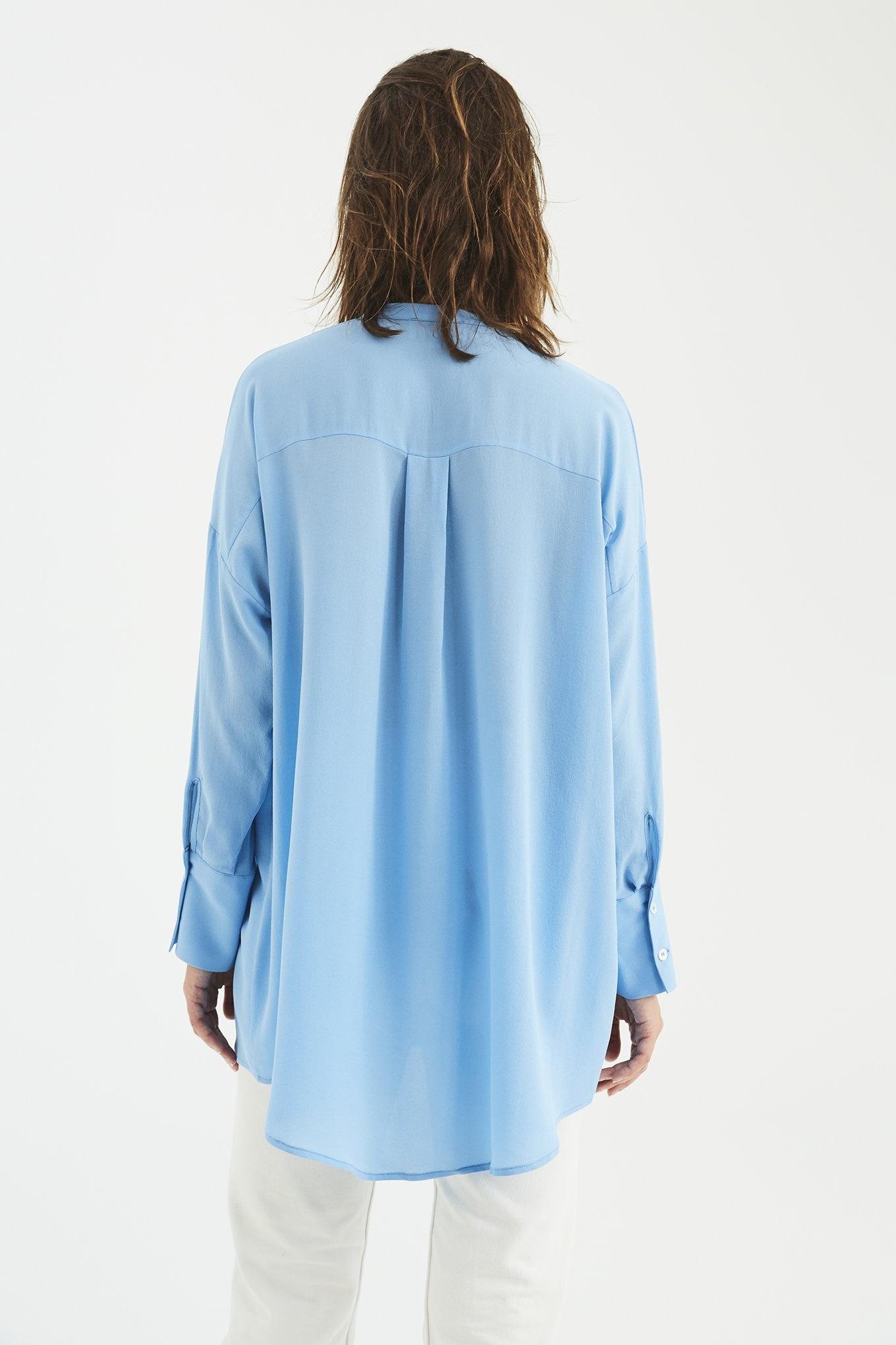 Mandarin shirt Light Blue
