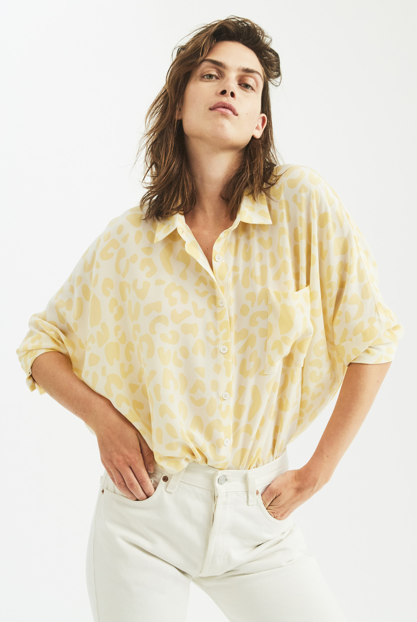Bianca Pocket shirt Yellow Leo
