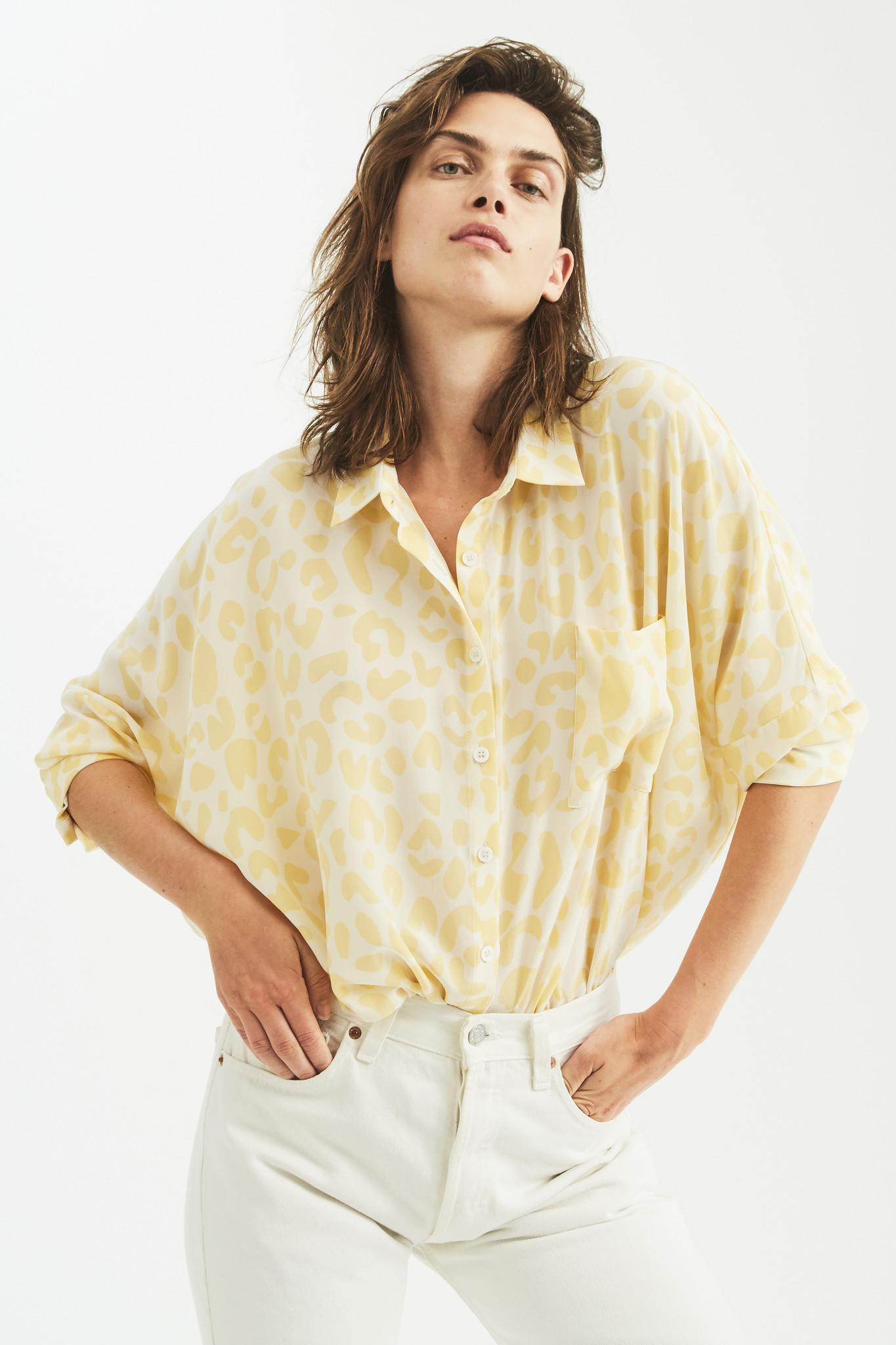 Bianca Pocket shirt Yellow Leo