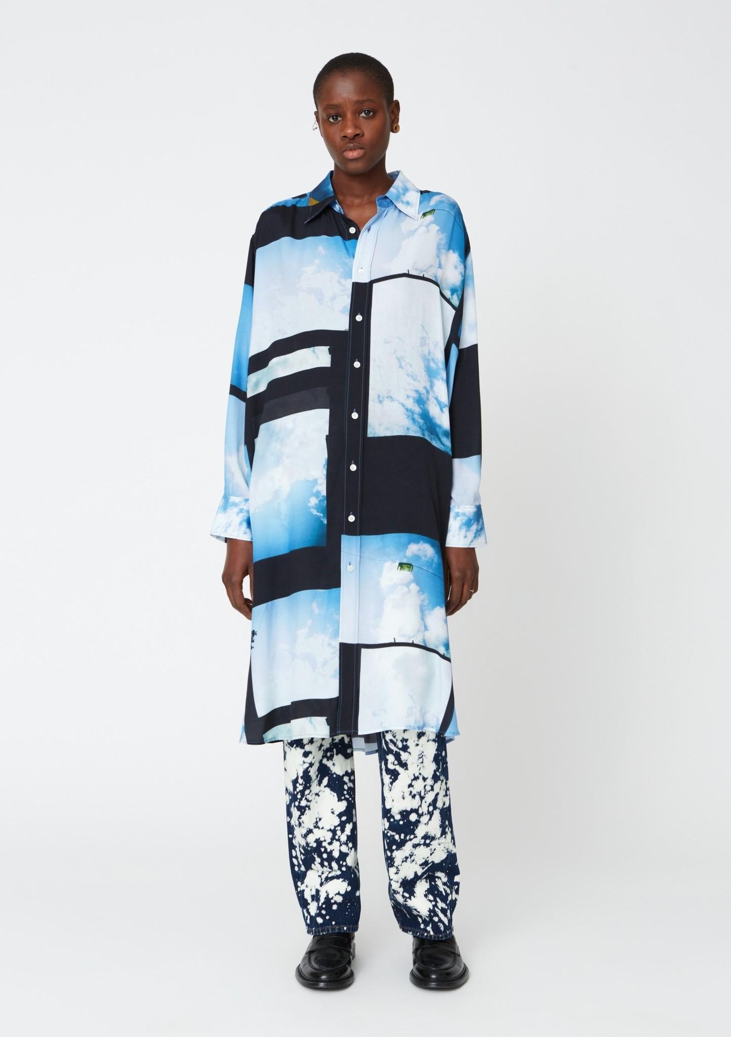 Free shirt Dress Heaven Blue print