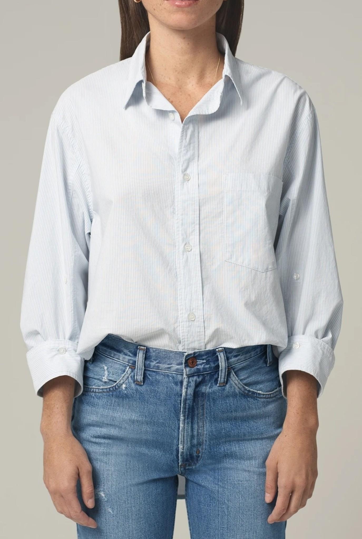 Kayla shirt Needle stripe