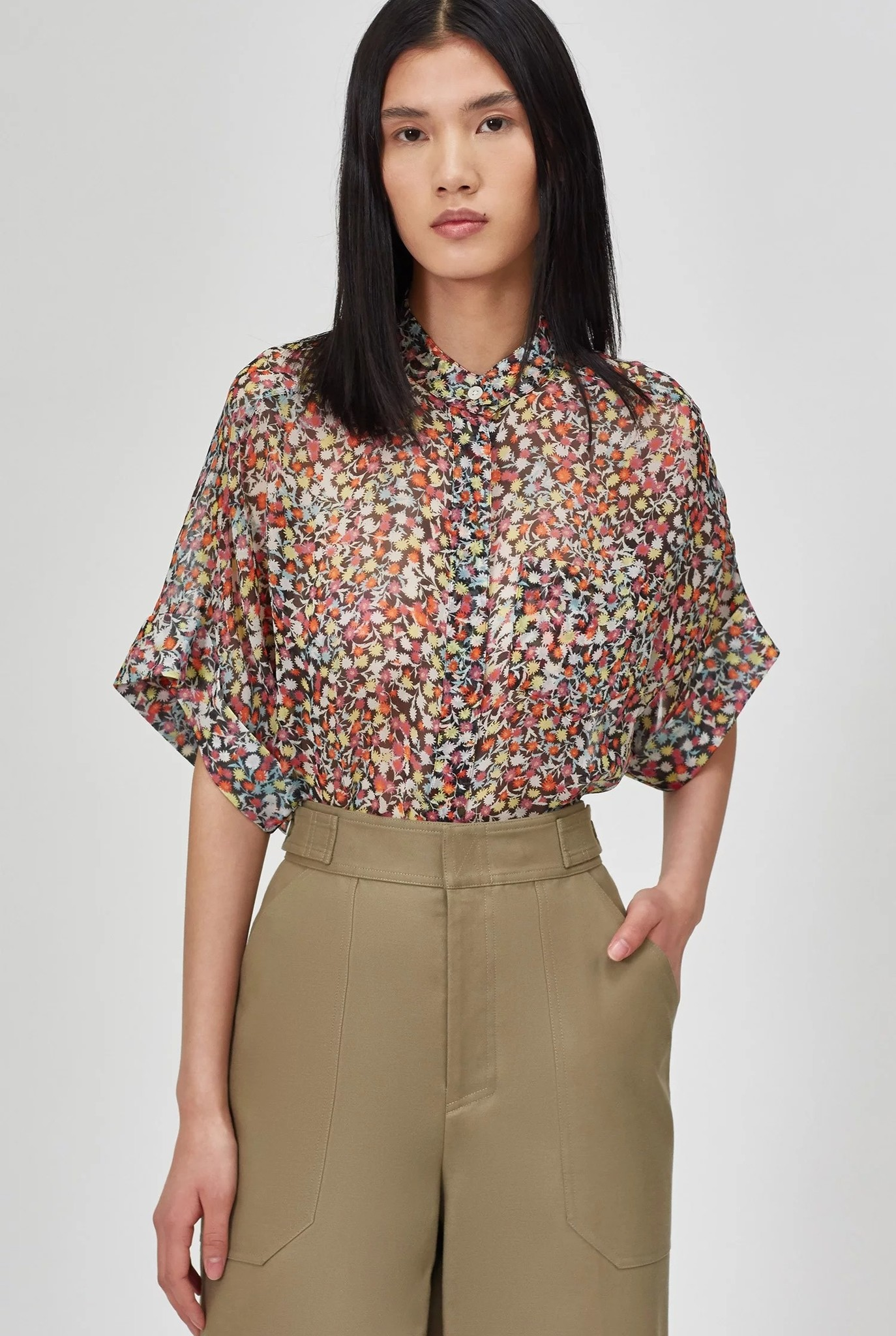 Alvia blouse True Black Multi color