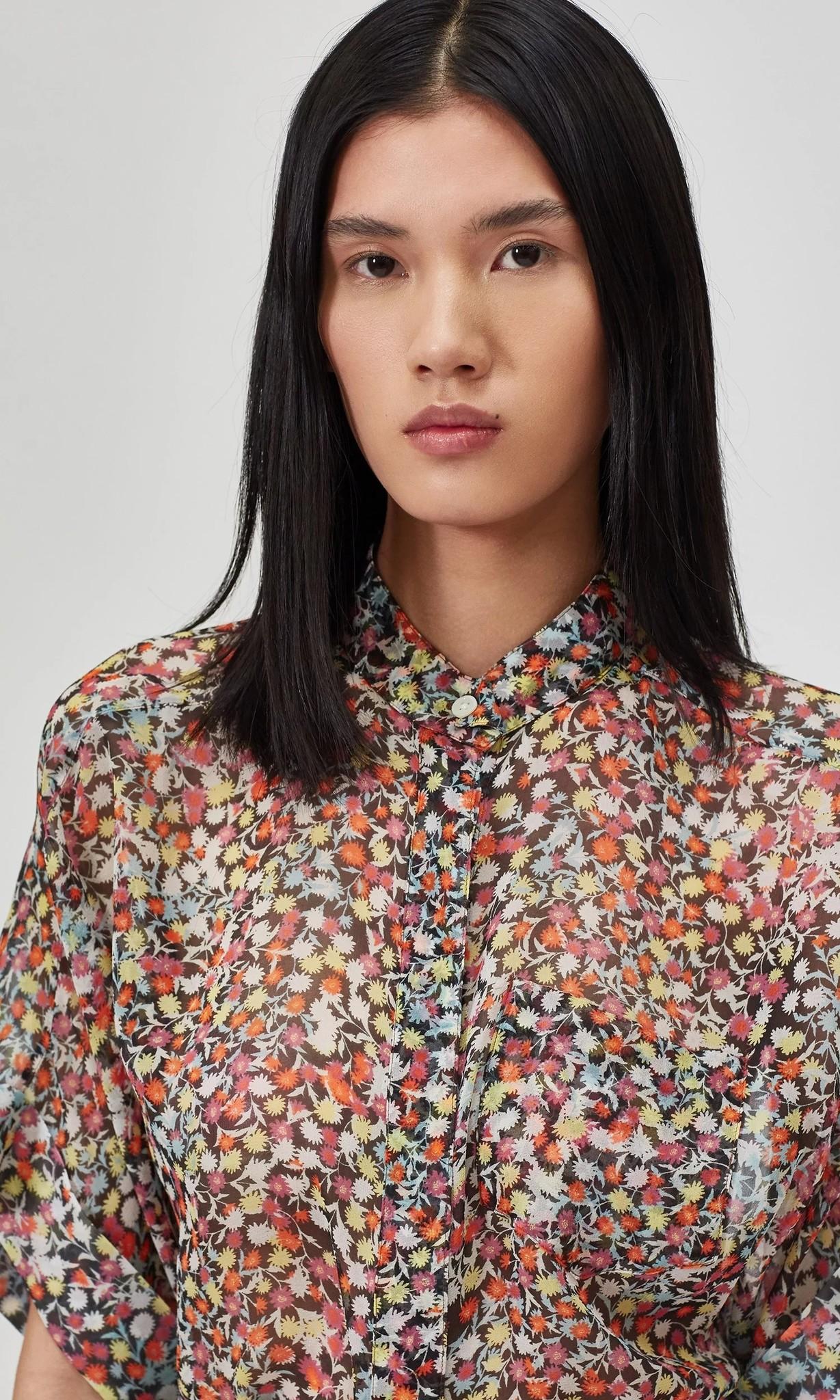 Alvia blouse True Black Multi color