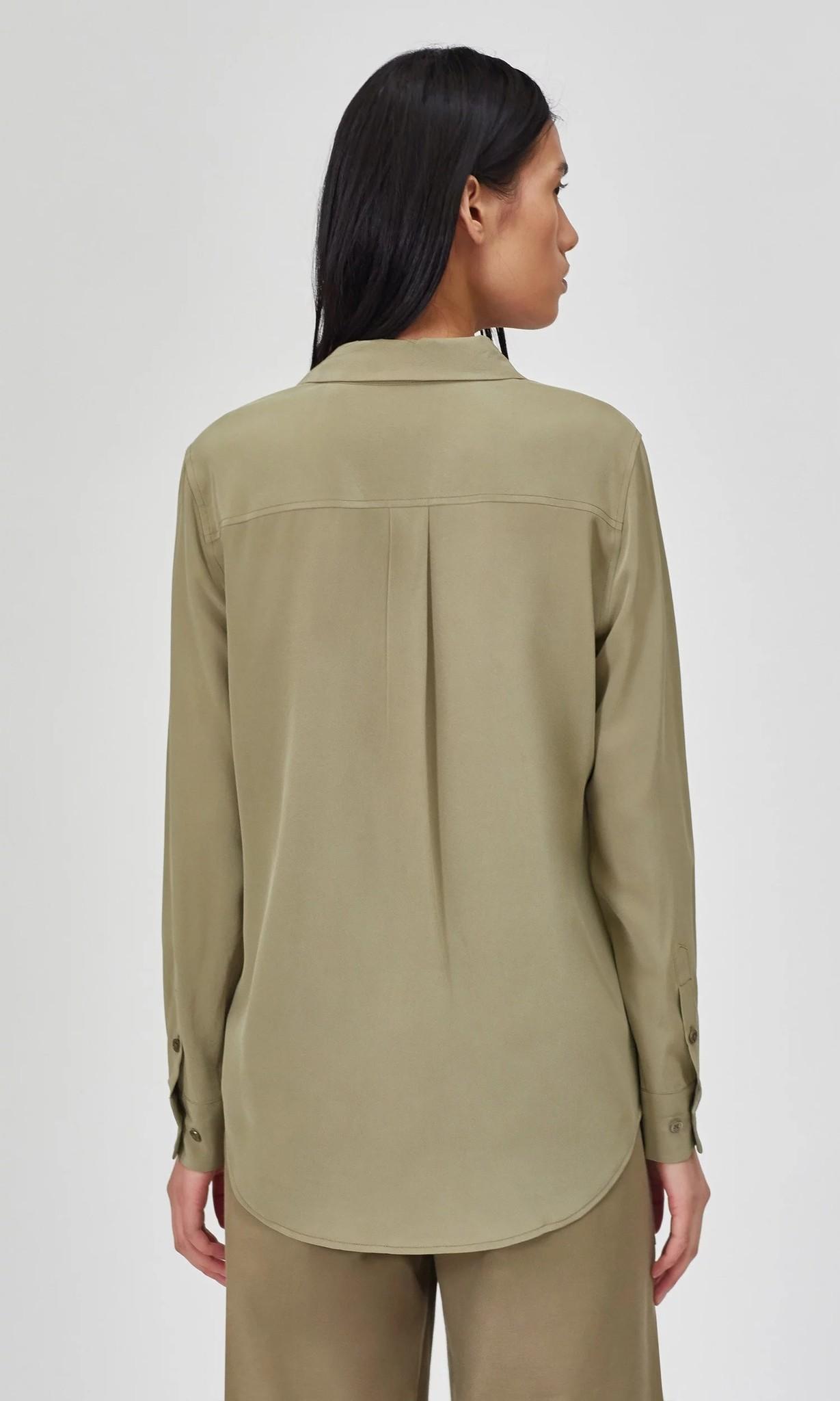 Slim signature blouse Covert Green