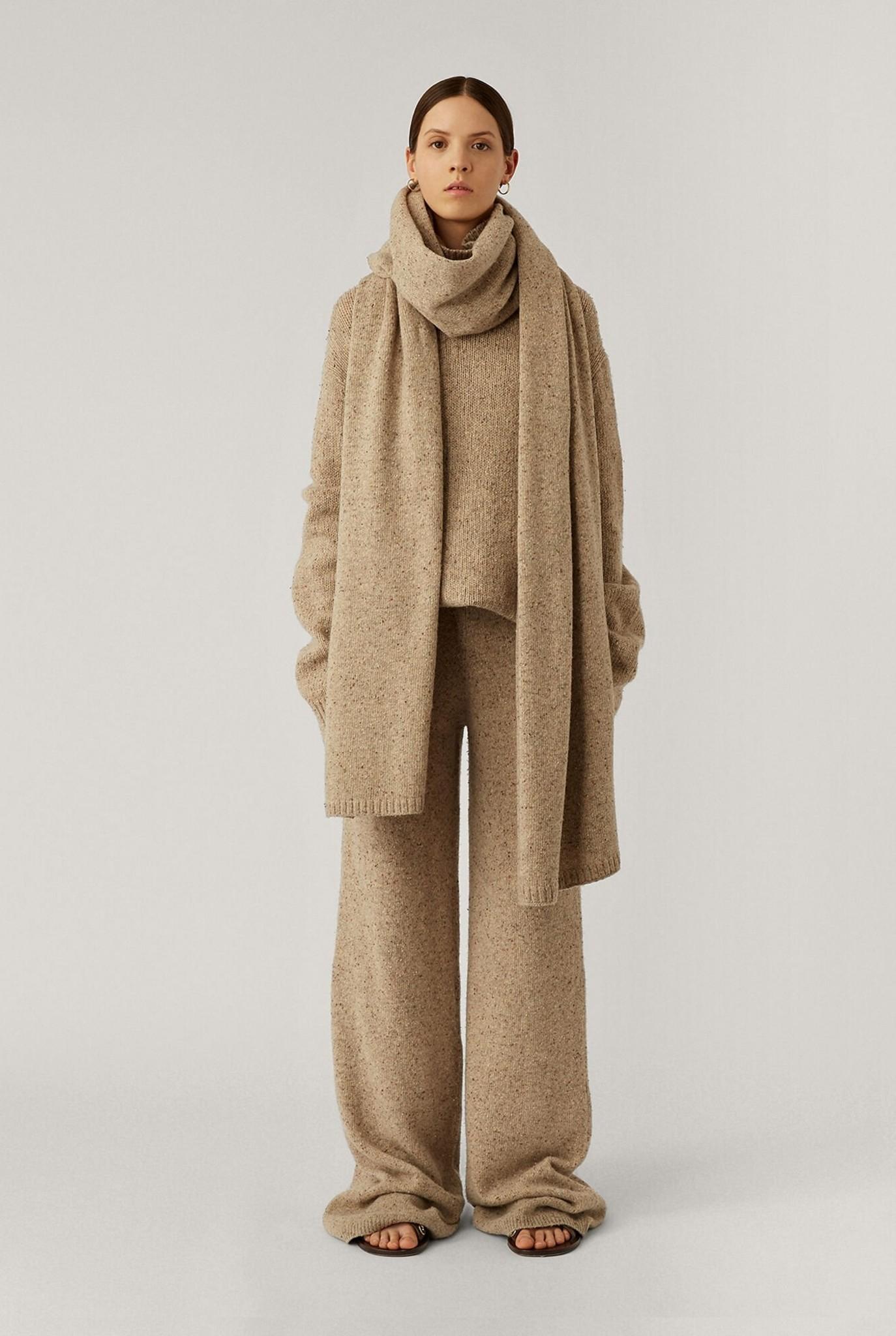 Plaid Tweed Knit Blush