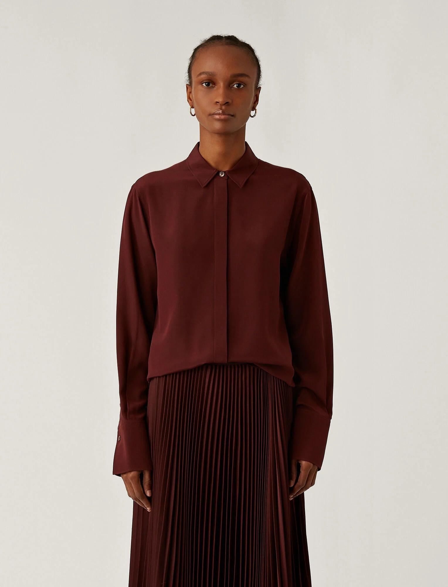Bold silk Shirt Ganache
